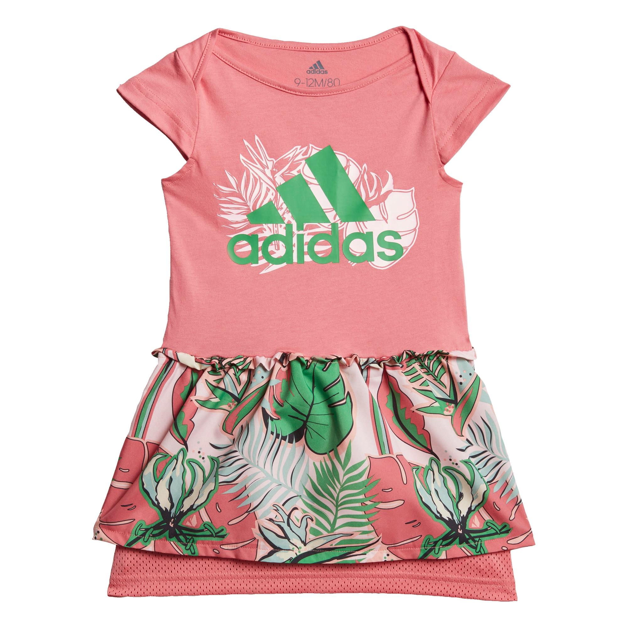 ADIDAS PERFORMANCE Sportinė suknelė šviesiai rožinė / žalia / balta / juoda / azuro