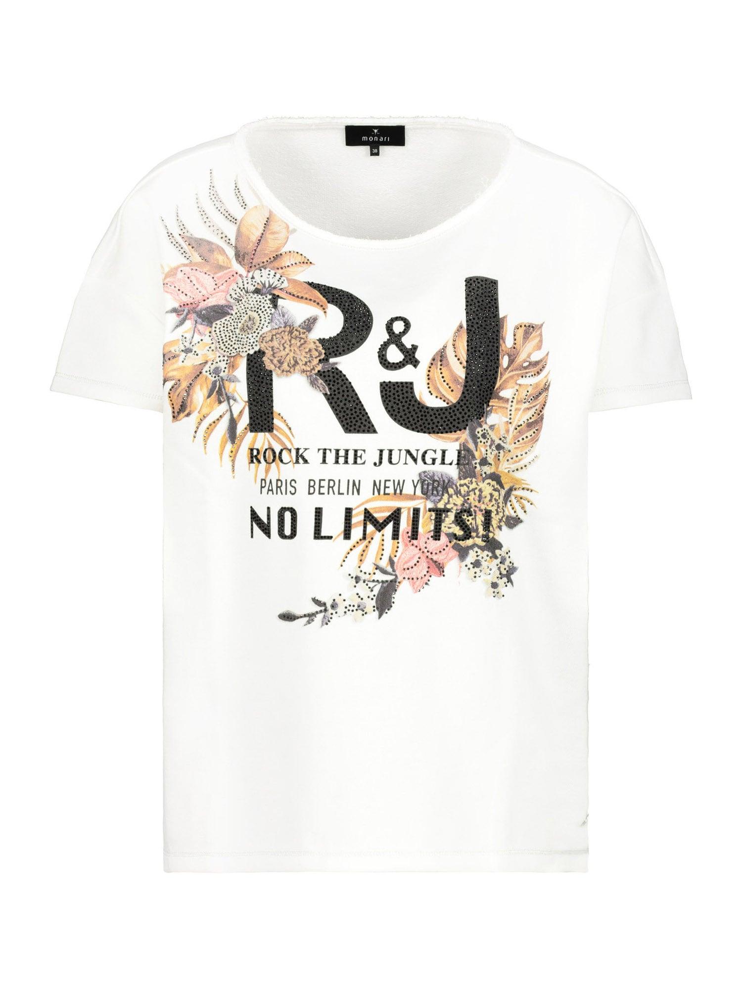 monari Marškinėliai vilnos balta / mišrios spalvos