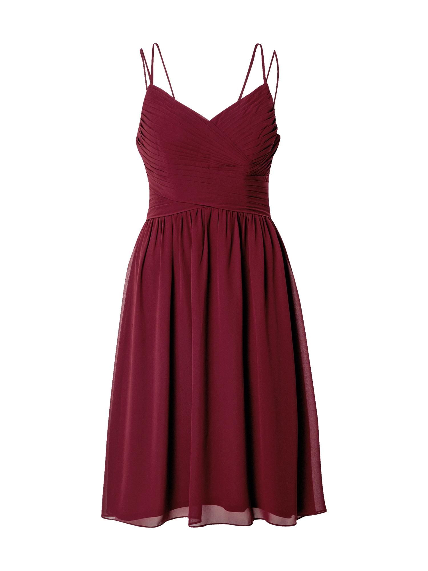 STAR NIGHT Kokteilinė suknelė vyno raudona spalva