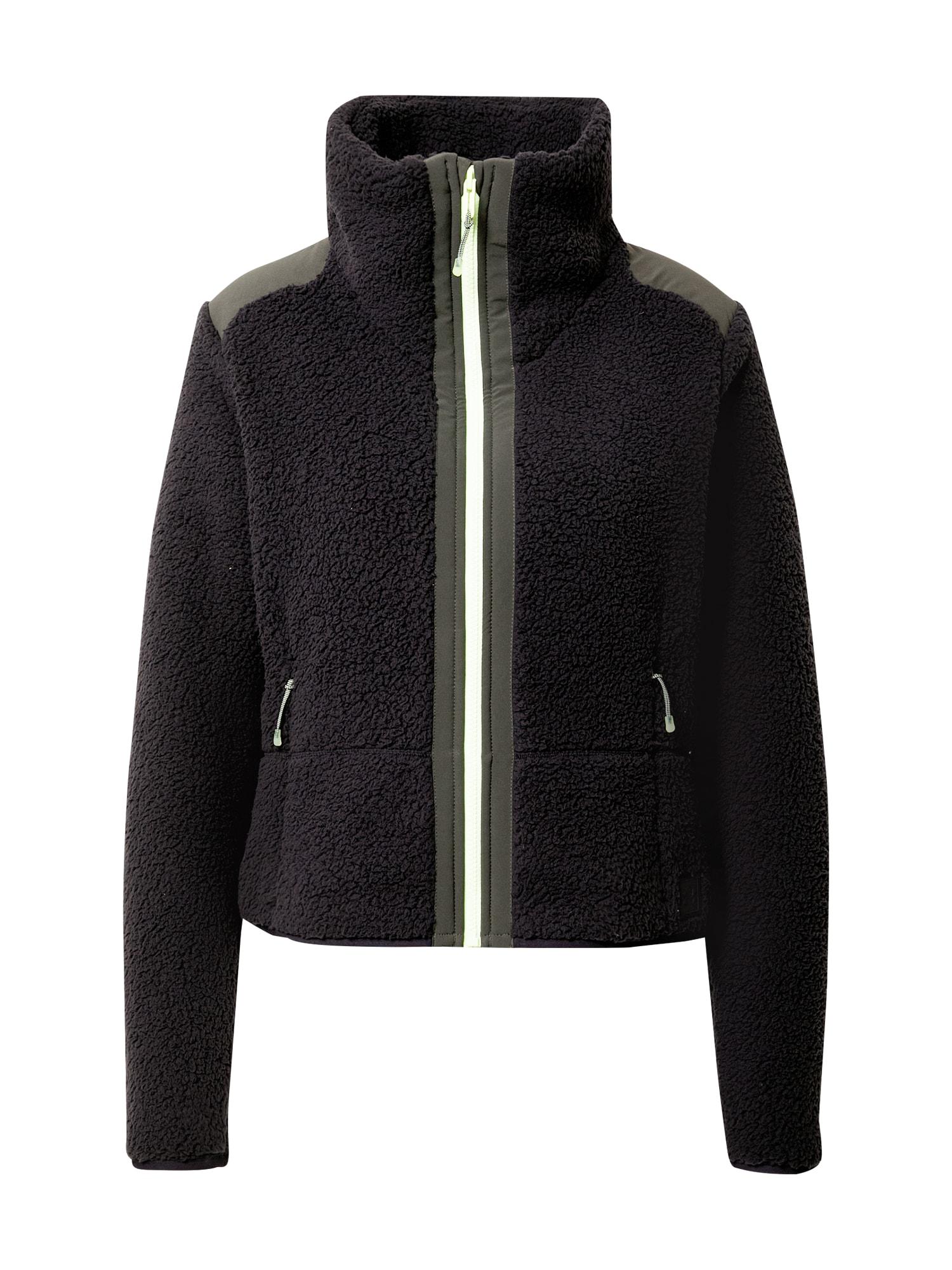 UNDER ARMOUR Funkcinis flisinis džemperis juoda / rusvai žalia