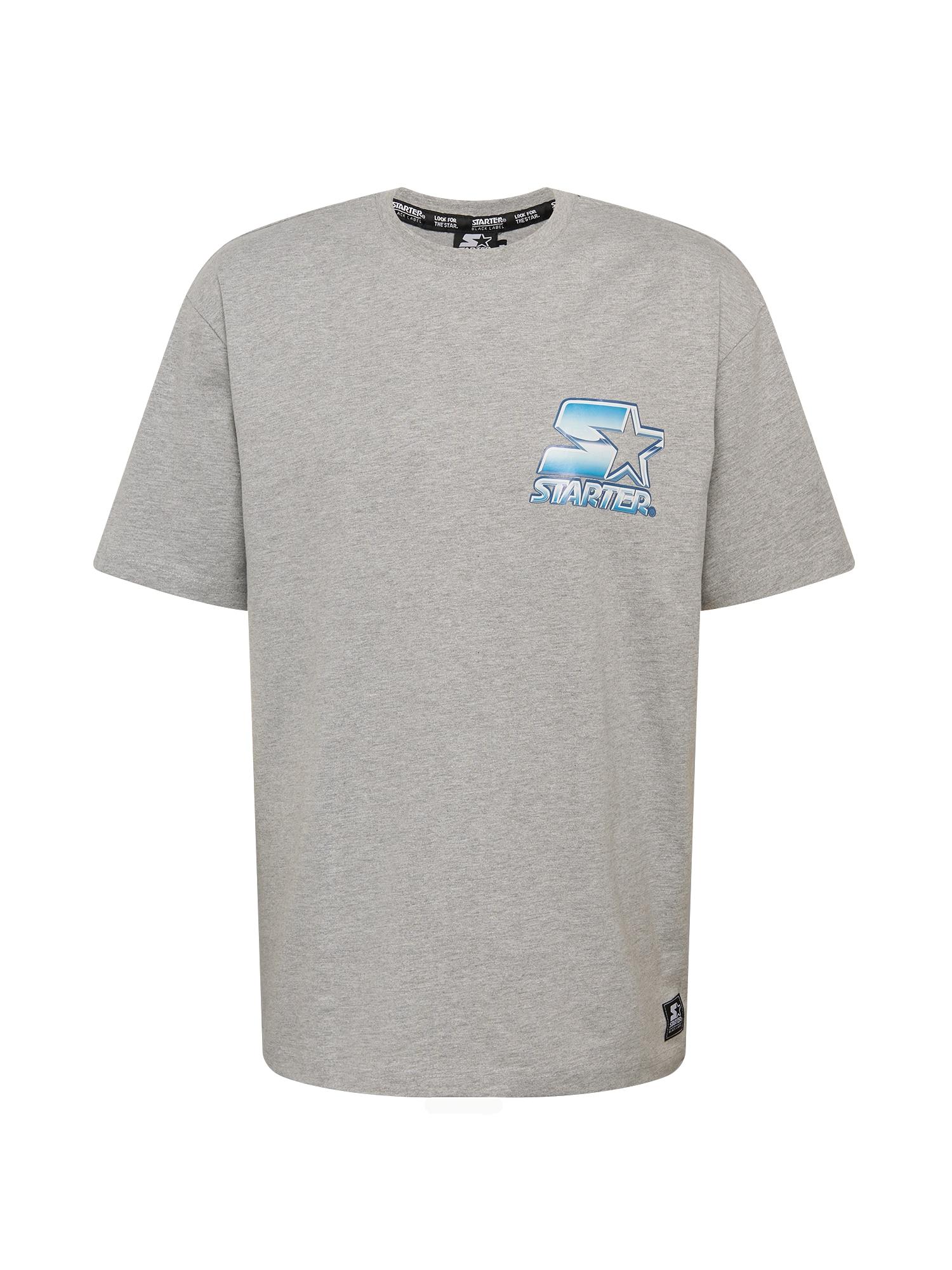 Starter Black Label Marškinėliai margai pilka / šviesiai mėlyna