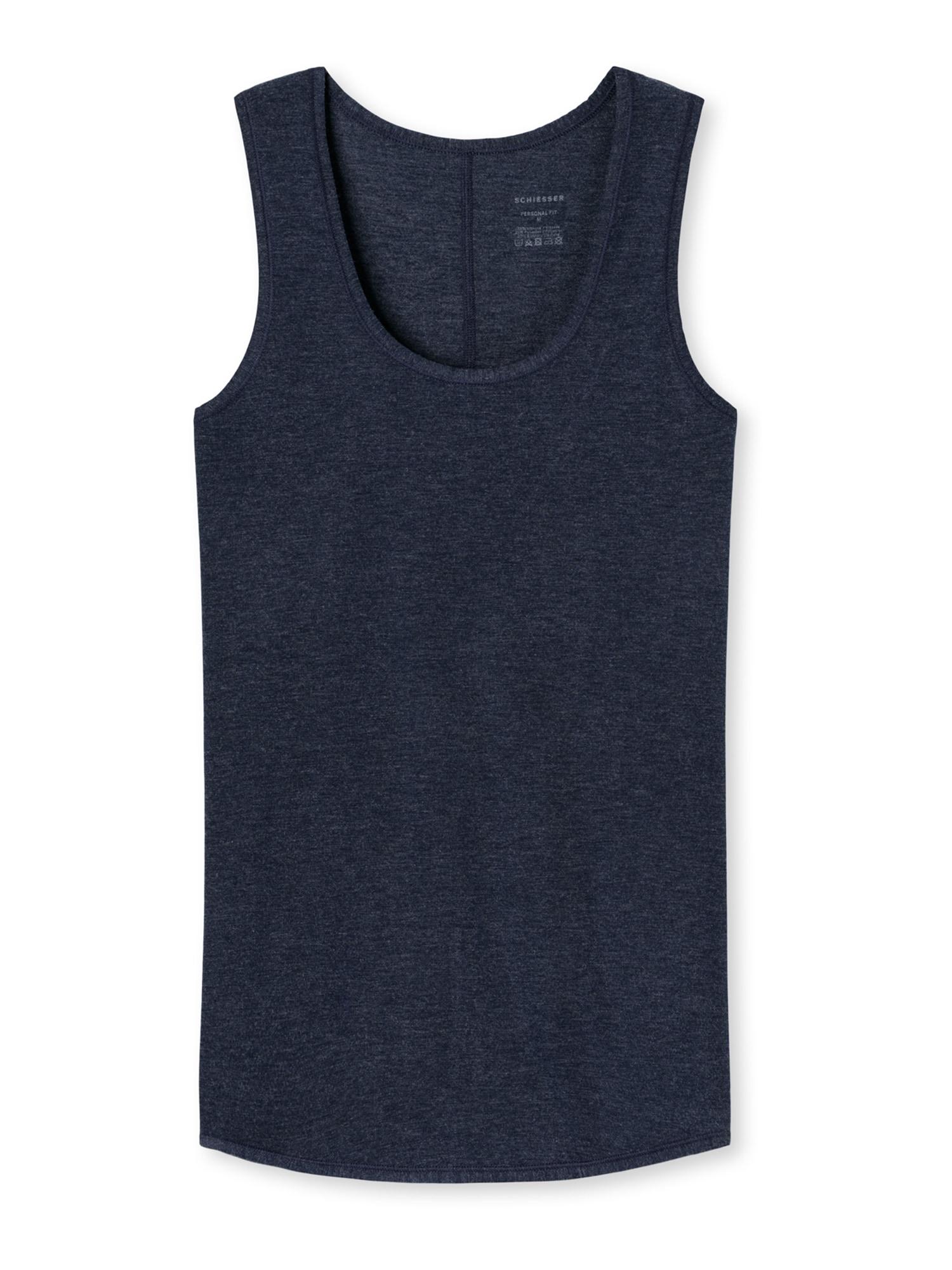 SCHIESSER Apatiniai marškinėliai kobalto mėlyna