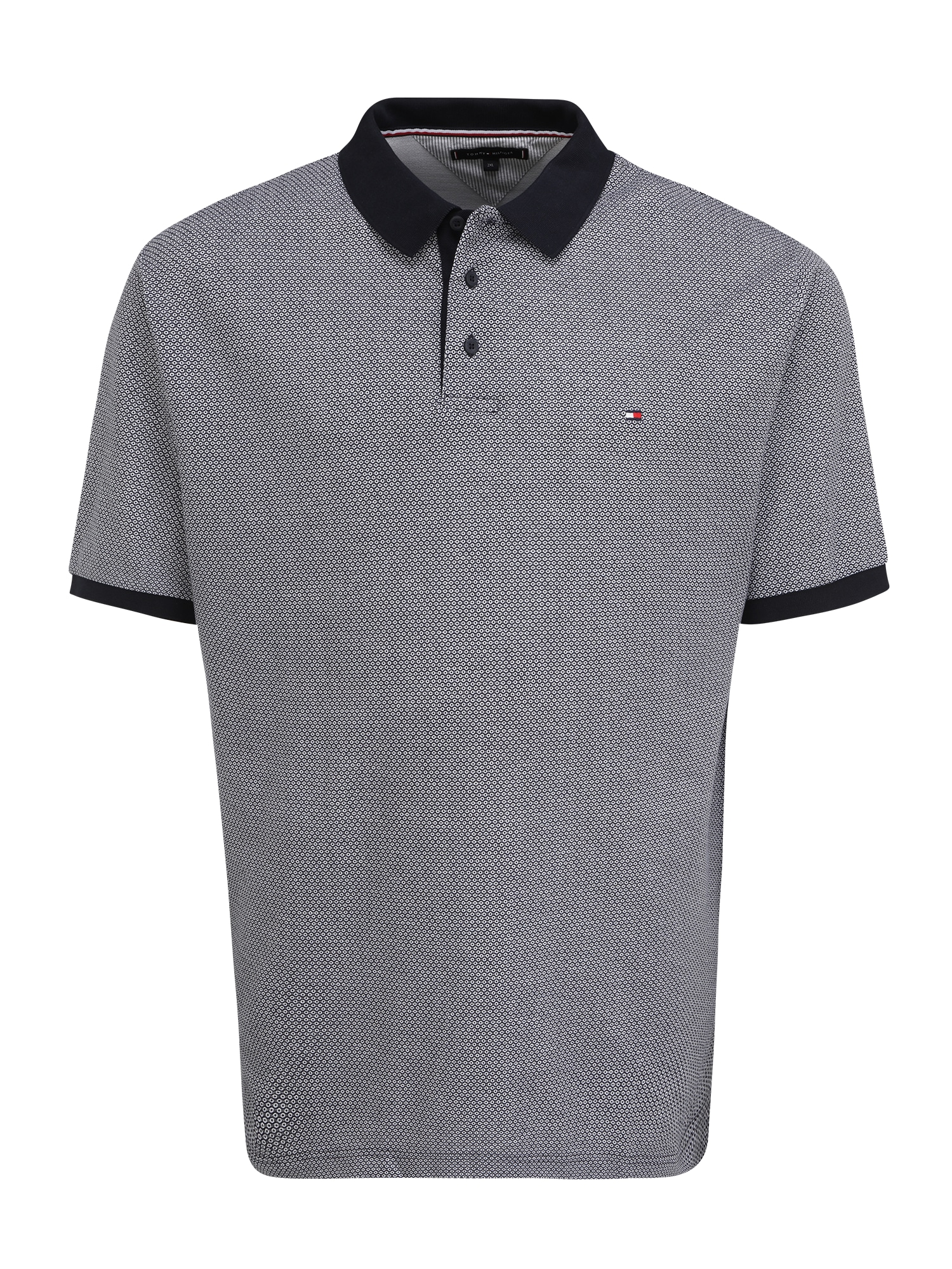 Tommy Hilfiger Big & Tall Marškinėliai balta / nakties mėlyna / raudona