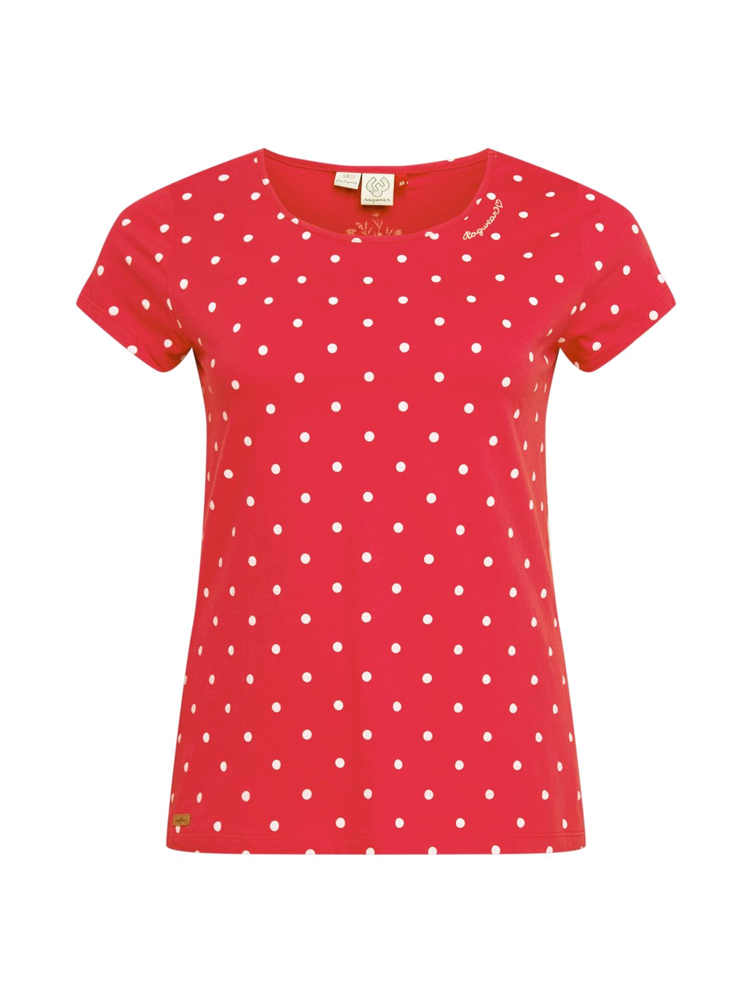 Ragwear Plus Marškinėliai raudona / balta