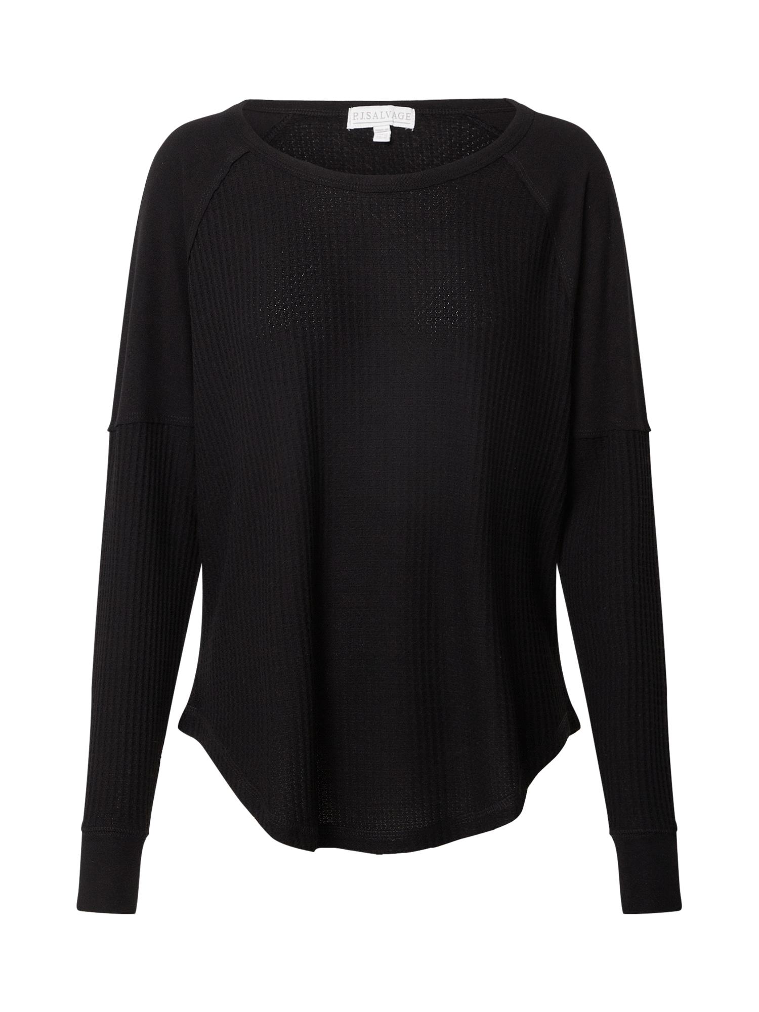 PJ Salvage Pižaminiai marškinėliai juoda