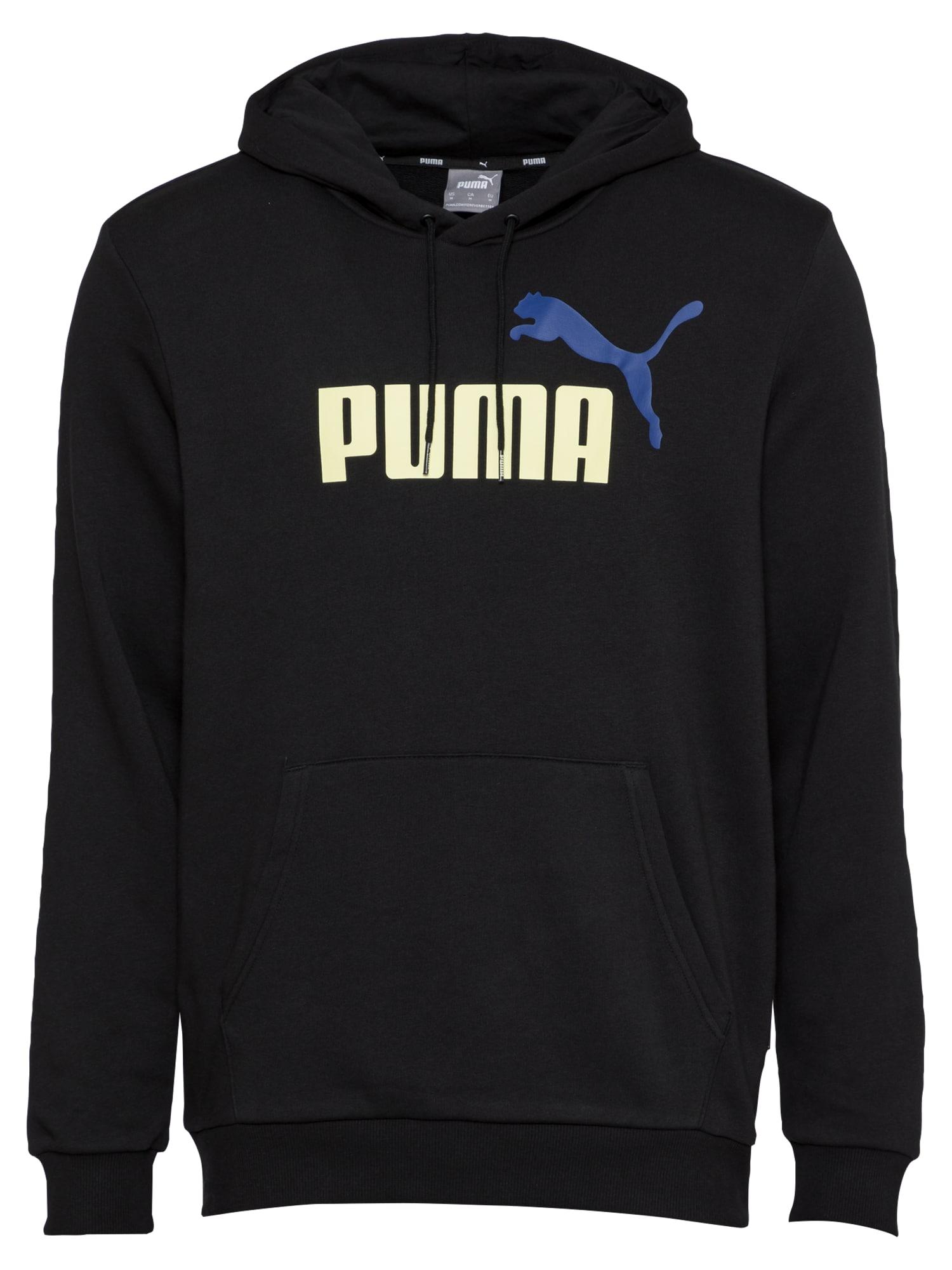"PUMA Sportinio tipo megztinis juoda / sodri mėlyna (""karališka"") / balta"