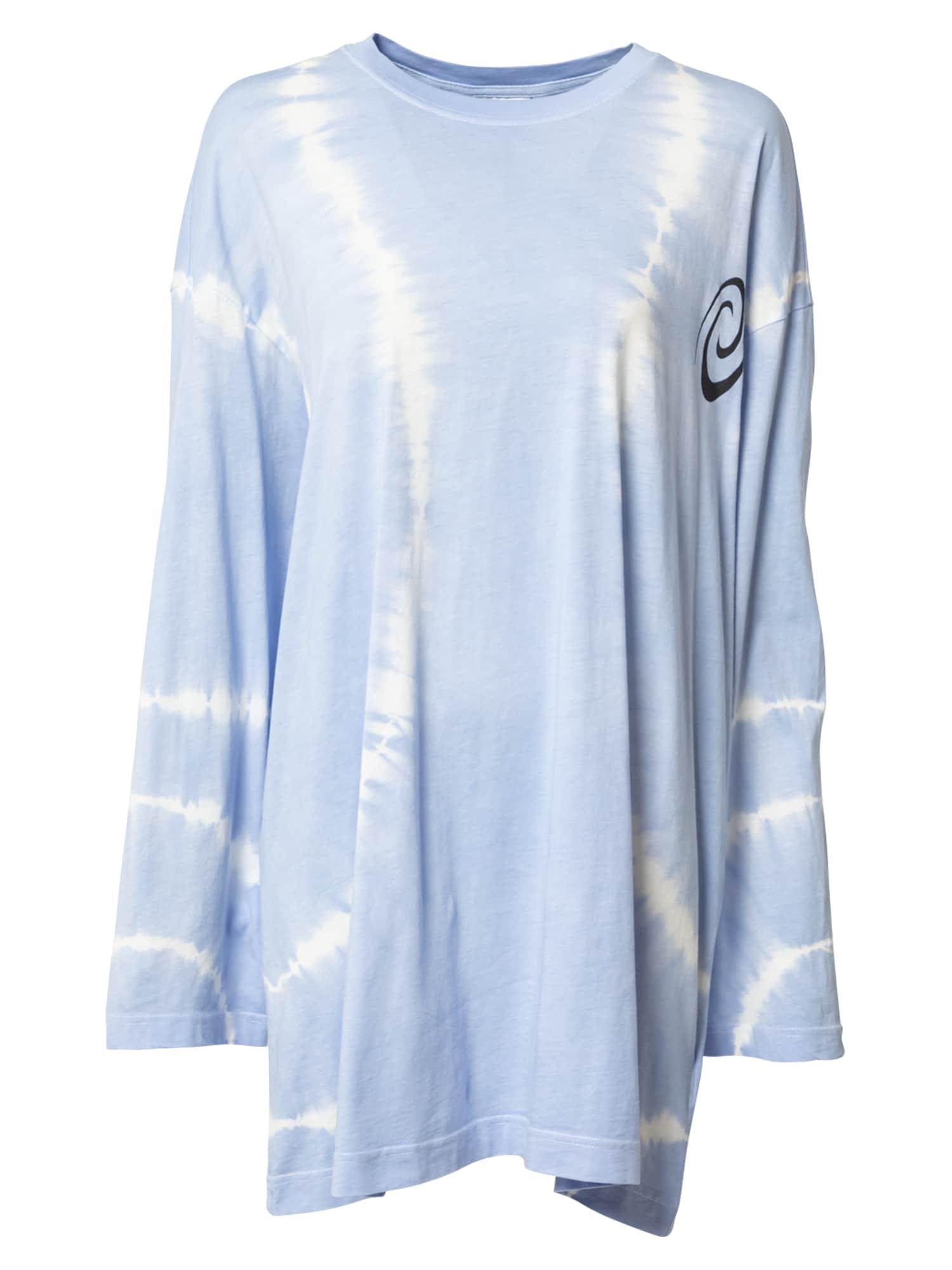 WEEKDAY Tričko 'Chrystanthe'  kouřově modrá / bílá / černá