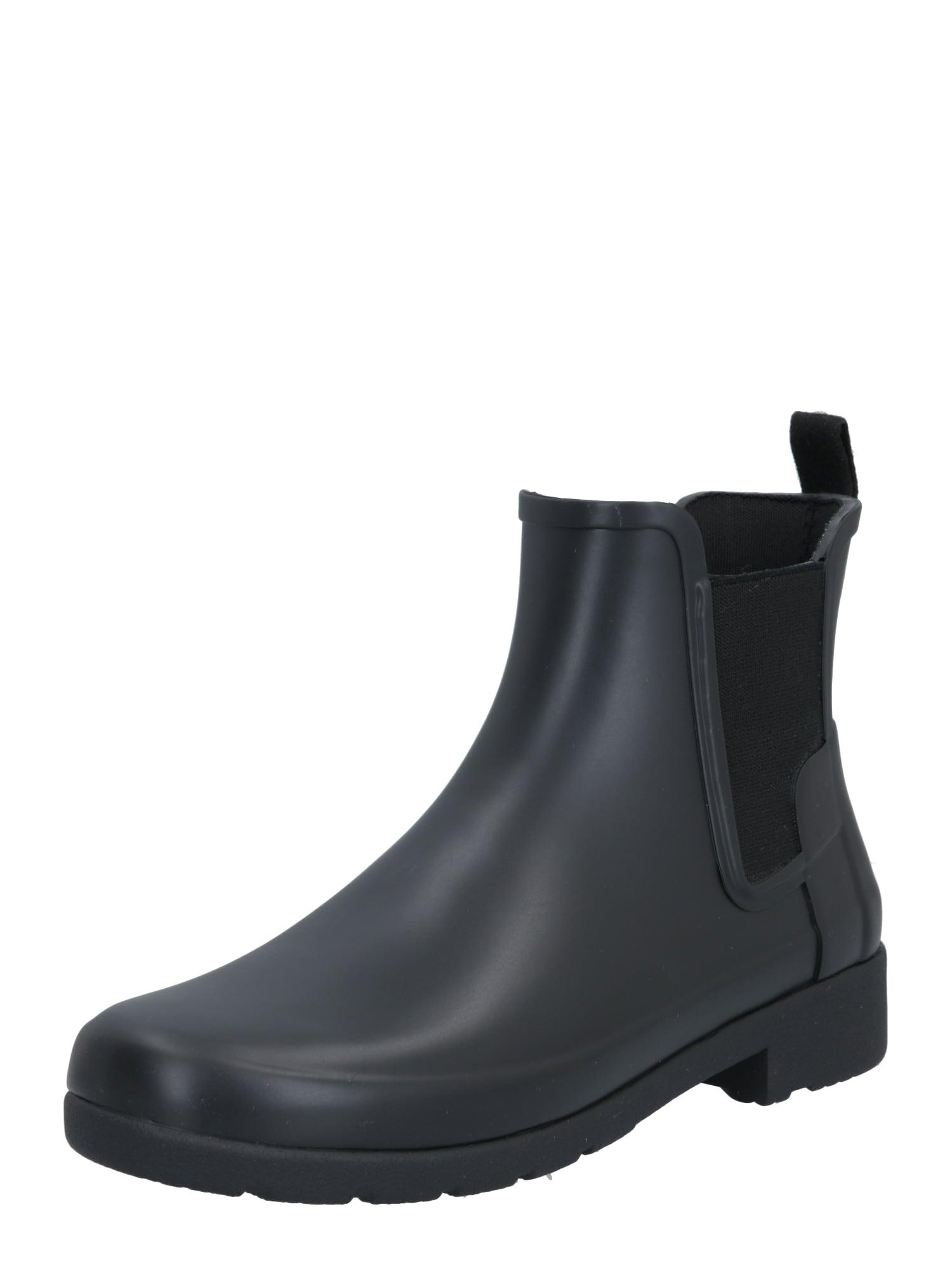 HUNTER Guminiai batai juoda