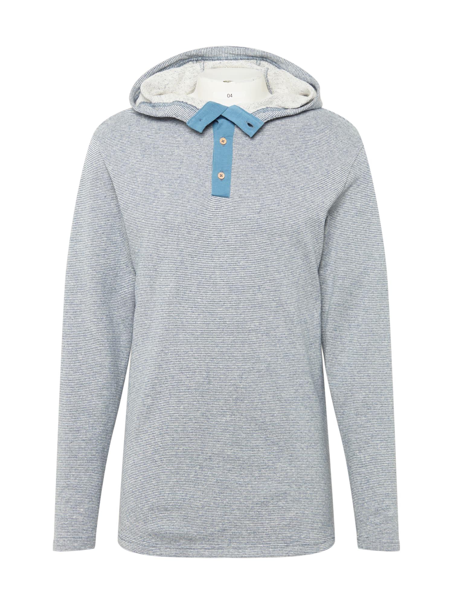 bleed clothing Megztinis be užsegimo mėlyna dūmų spalva / natūrali balta