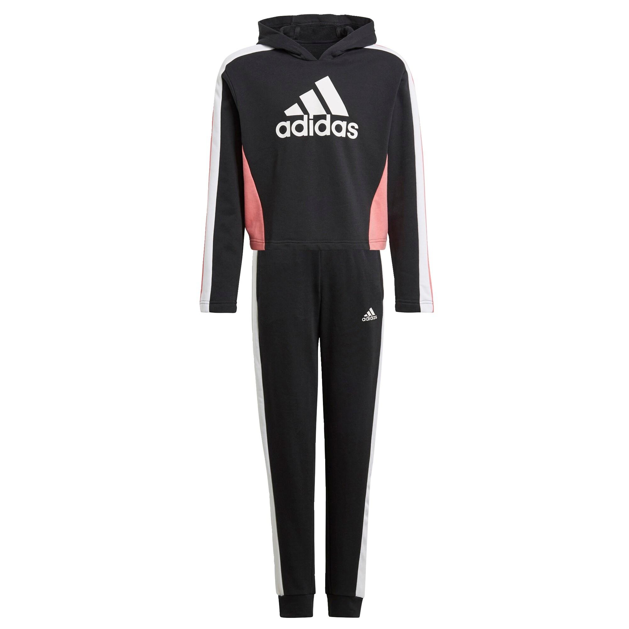 ADIDAS PERFORMANCE Treniruočių kostiumas juoda / balta / šviesiai rožinė