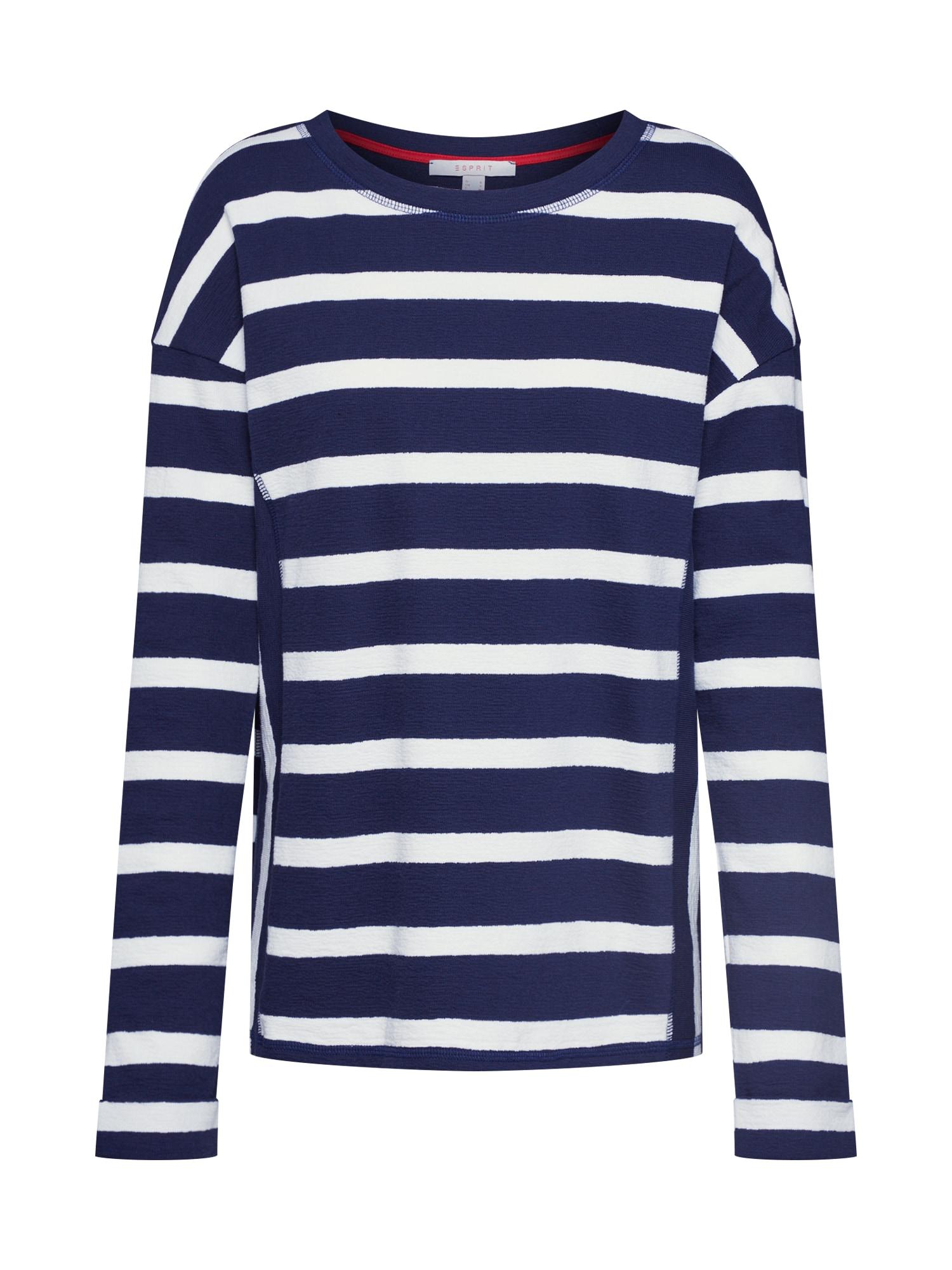 ESPRIT Tričko 'NOOS Stripe Top'  námornícka modrá