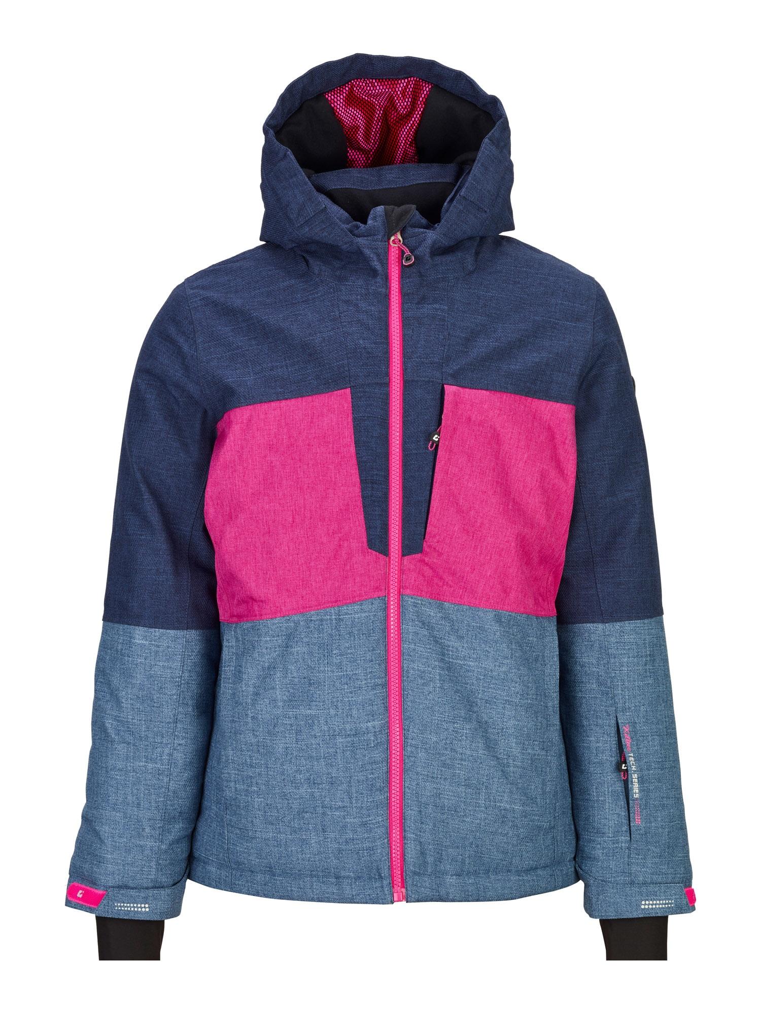KILLTEC Outdoorová bunda 'Raakel'  pink / tmavě modrá / modrá džínovina