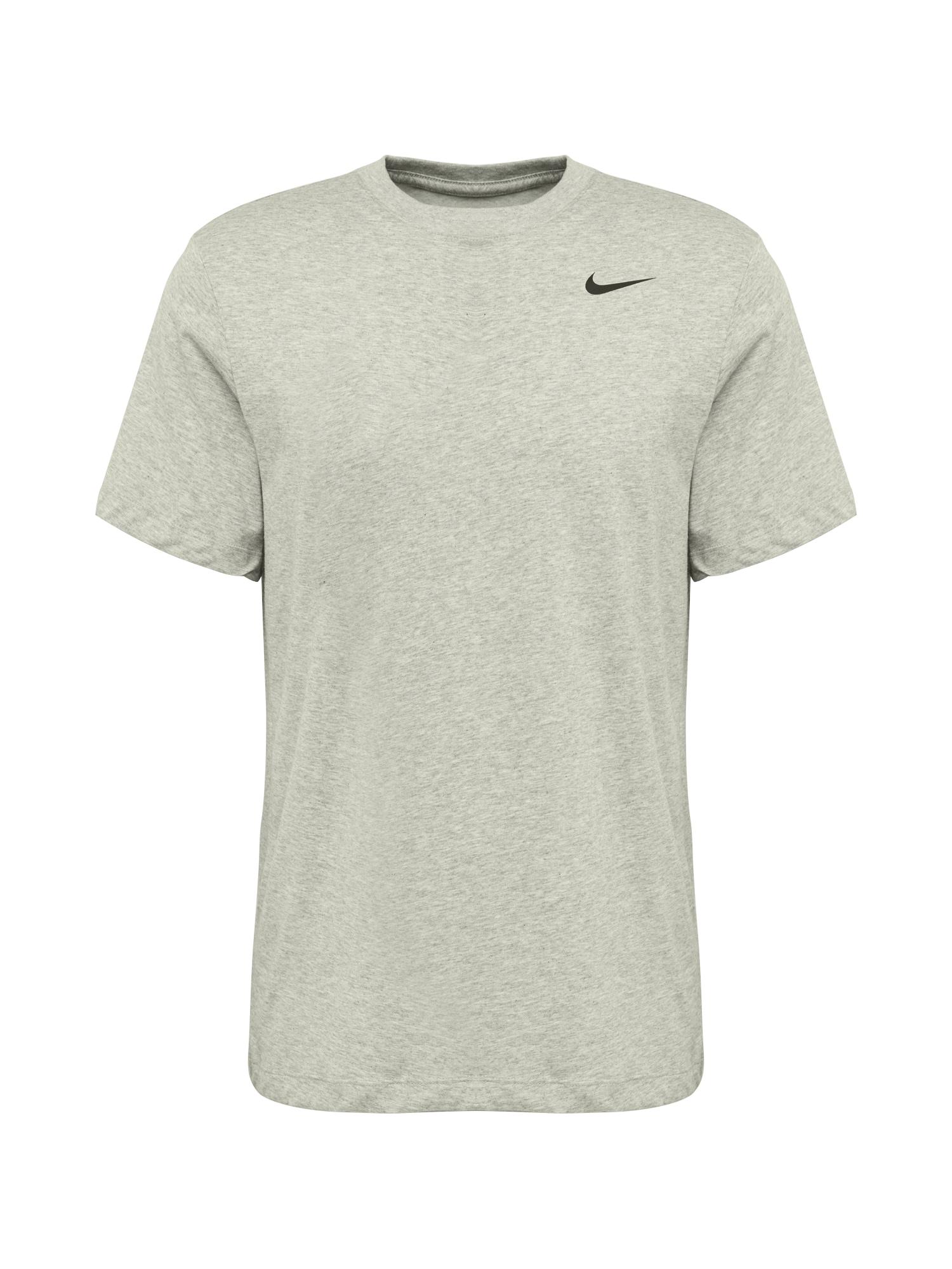 NIKE Funkční tričko  šedý melír / černá