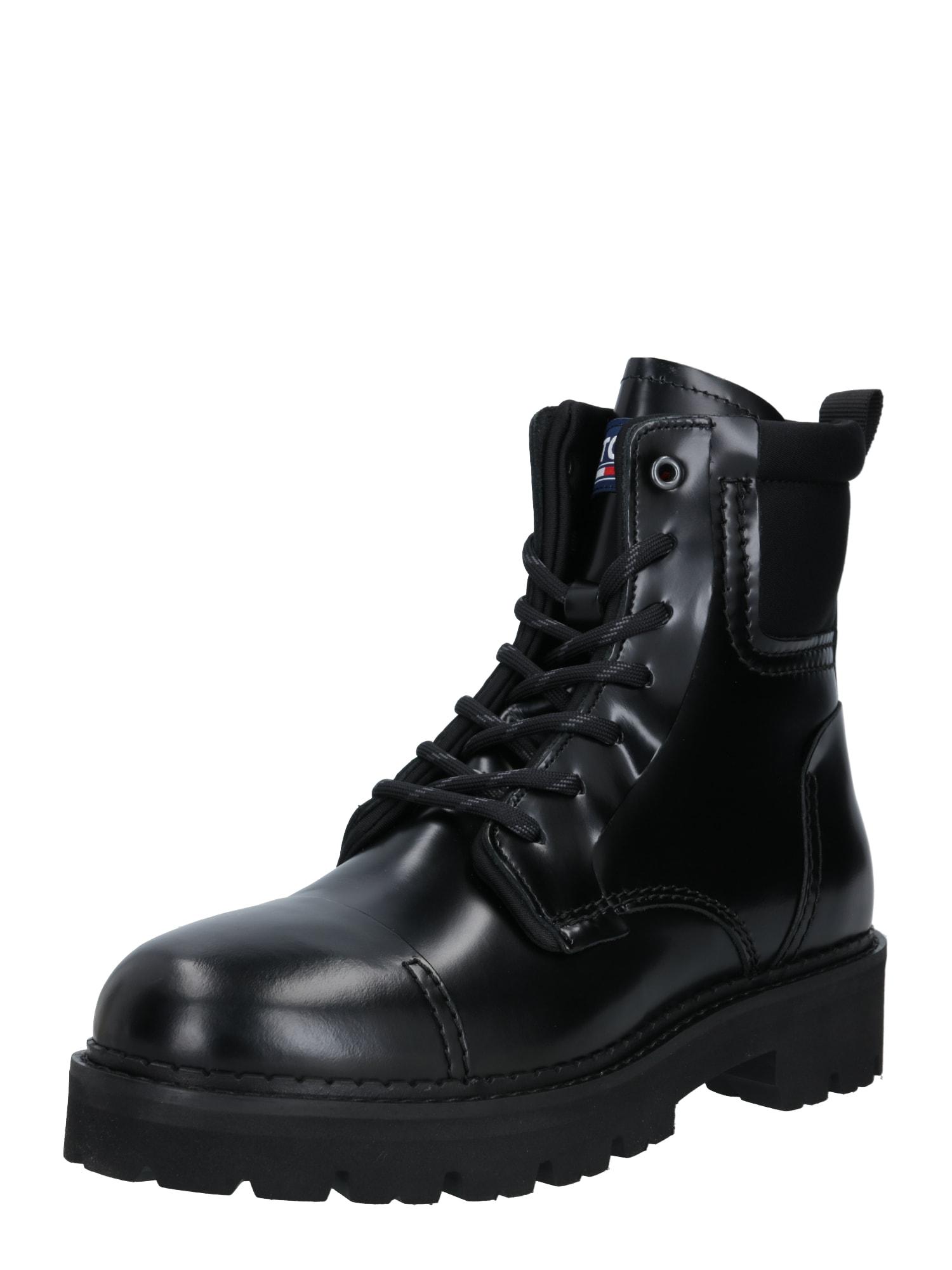 Tommy Jeans Auliniai batai su raišteliais juoda