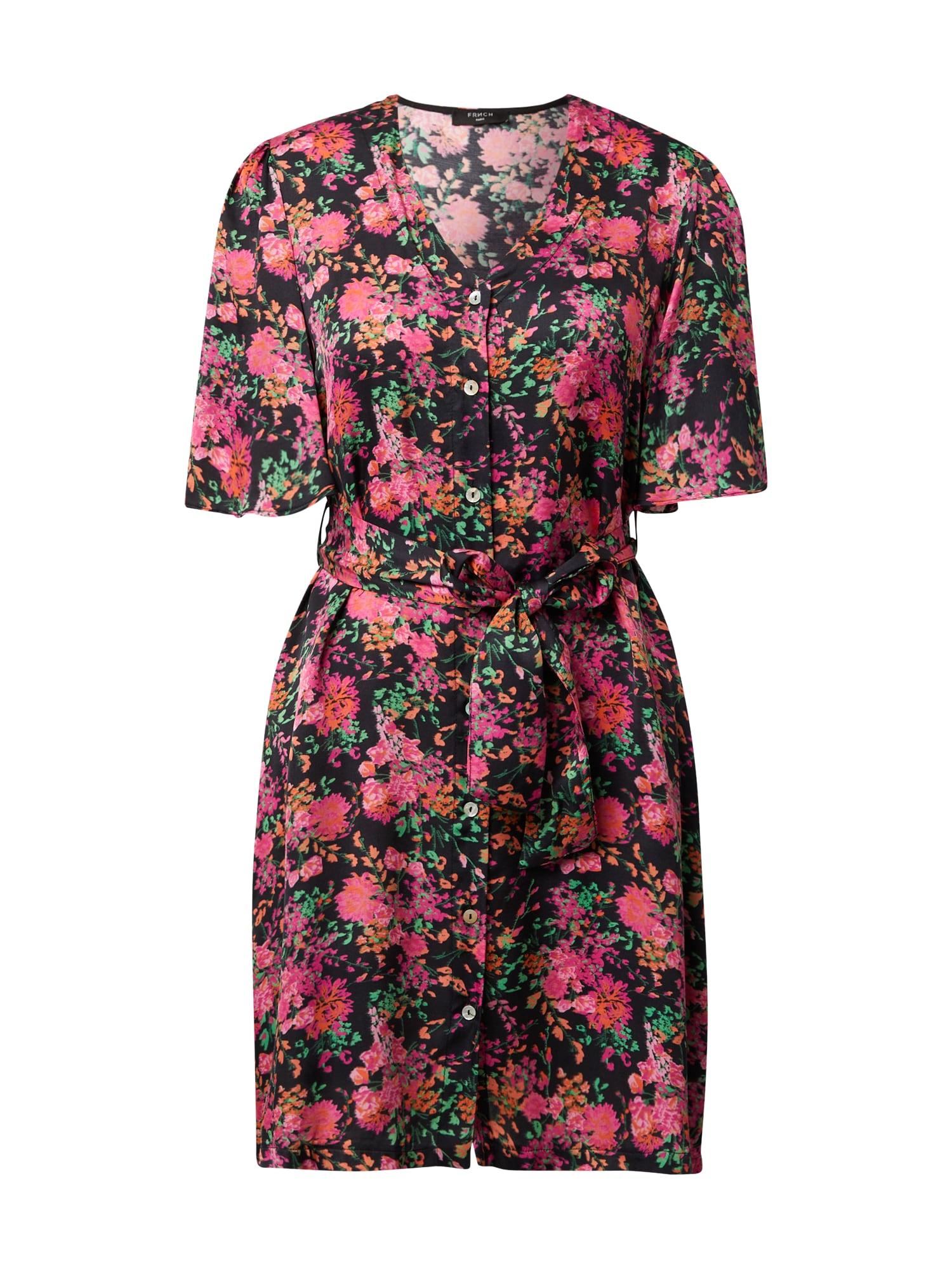 FRNCH PARIS Palaidinės tipo suknelė rožinė / juoda / fuksijų spalva / žalia / tamsiai oranžinė
