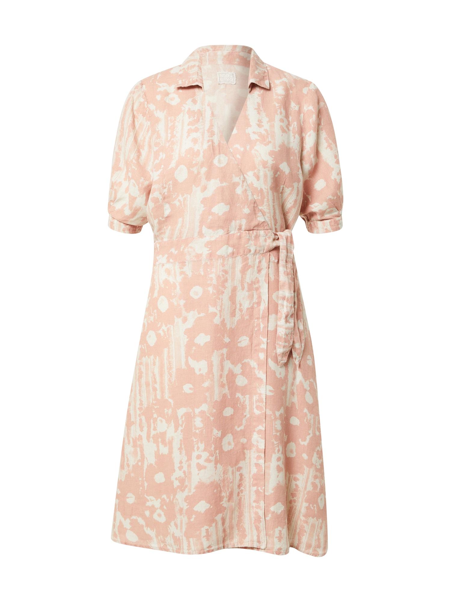 120% Lino Suknelė pastelinė rožinė / balta
