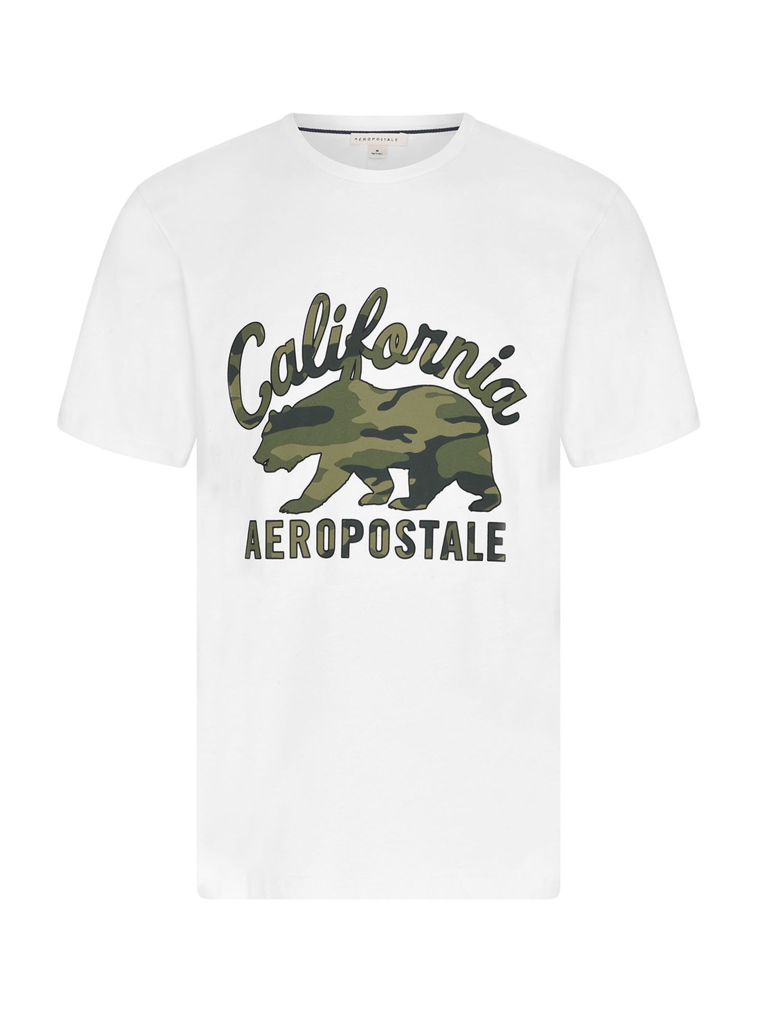 AÉROPOSTALE Marškinėliai balta / alyvuogių spalva / tamsiai žalia