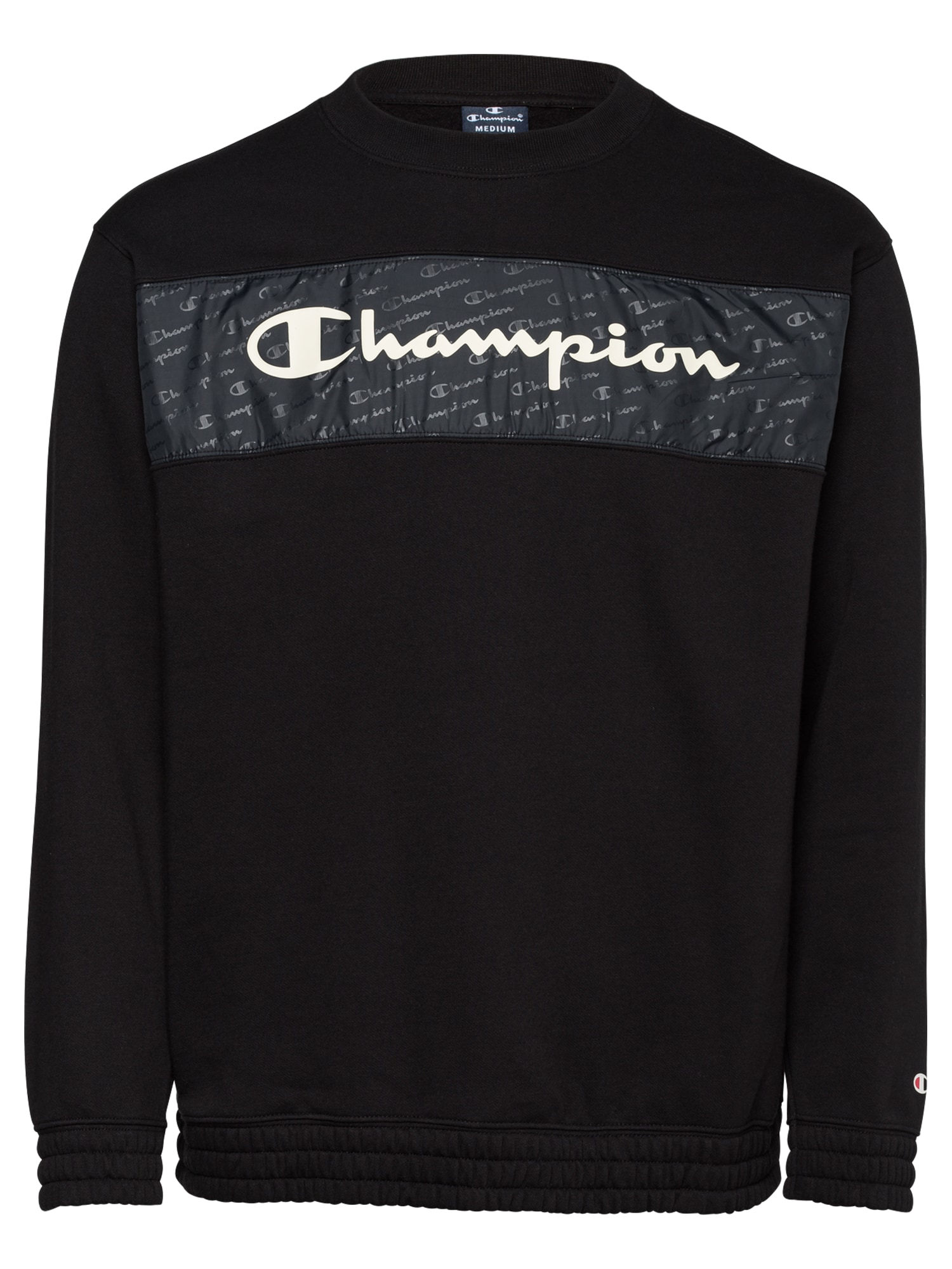Champion Authentic Athletic Apparel Megztinis be užsegimo balta / juoda / bazalto pilka
