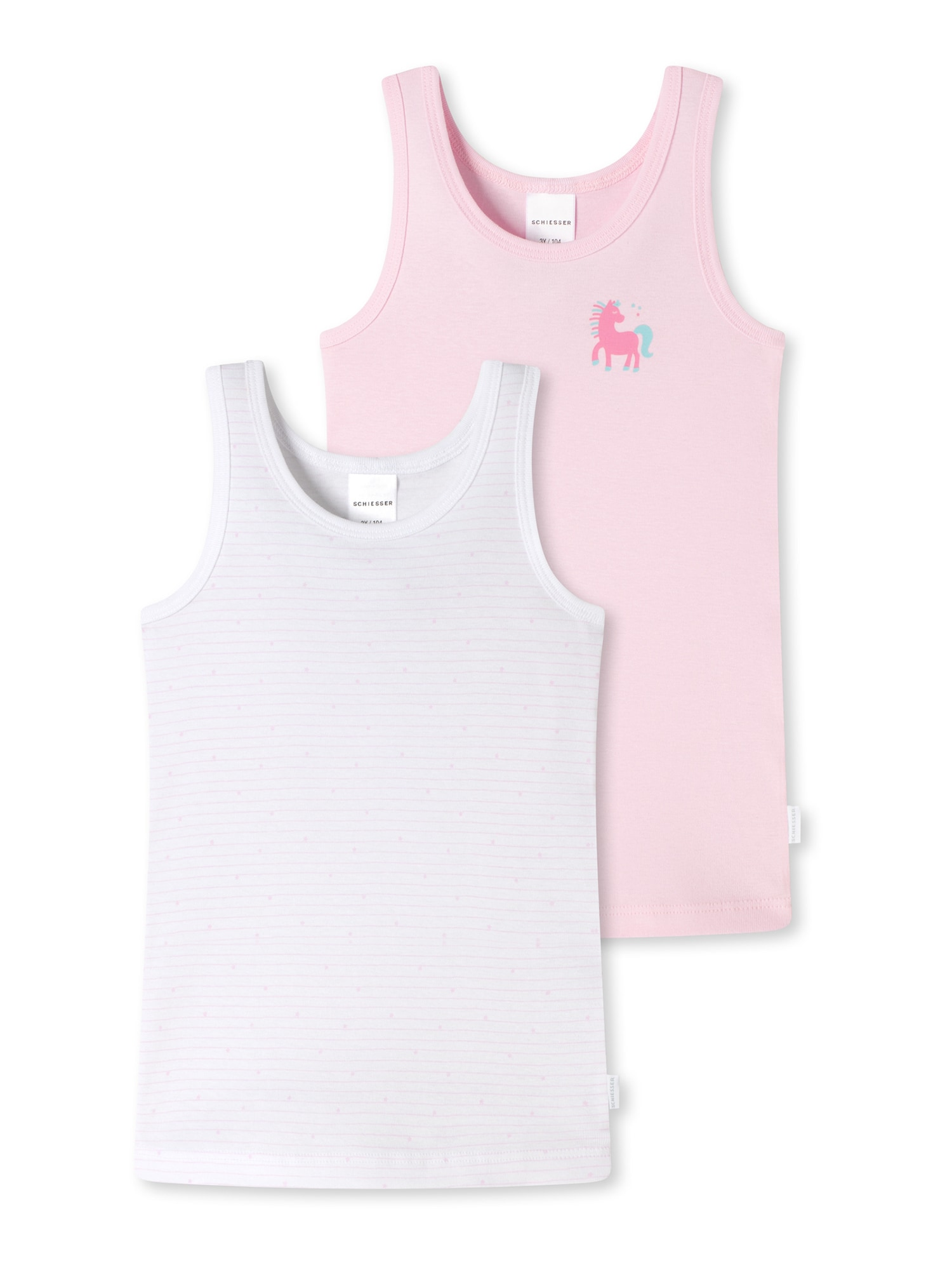 SCHIESSER Tílko ' 2er-Pack Basic Kids '  bílá / růžová