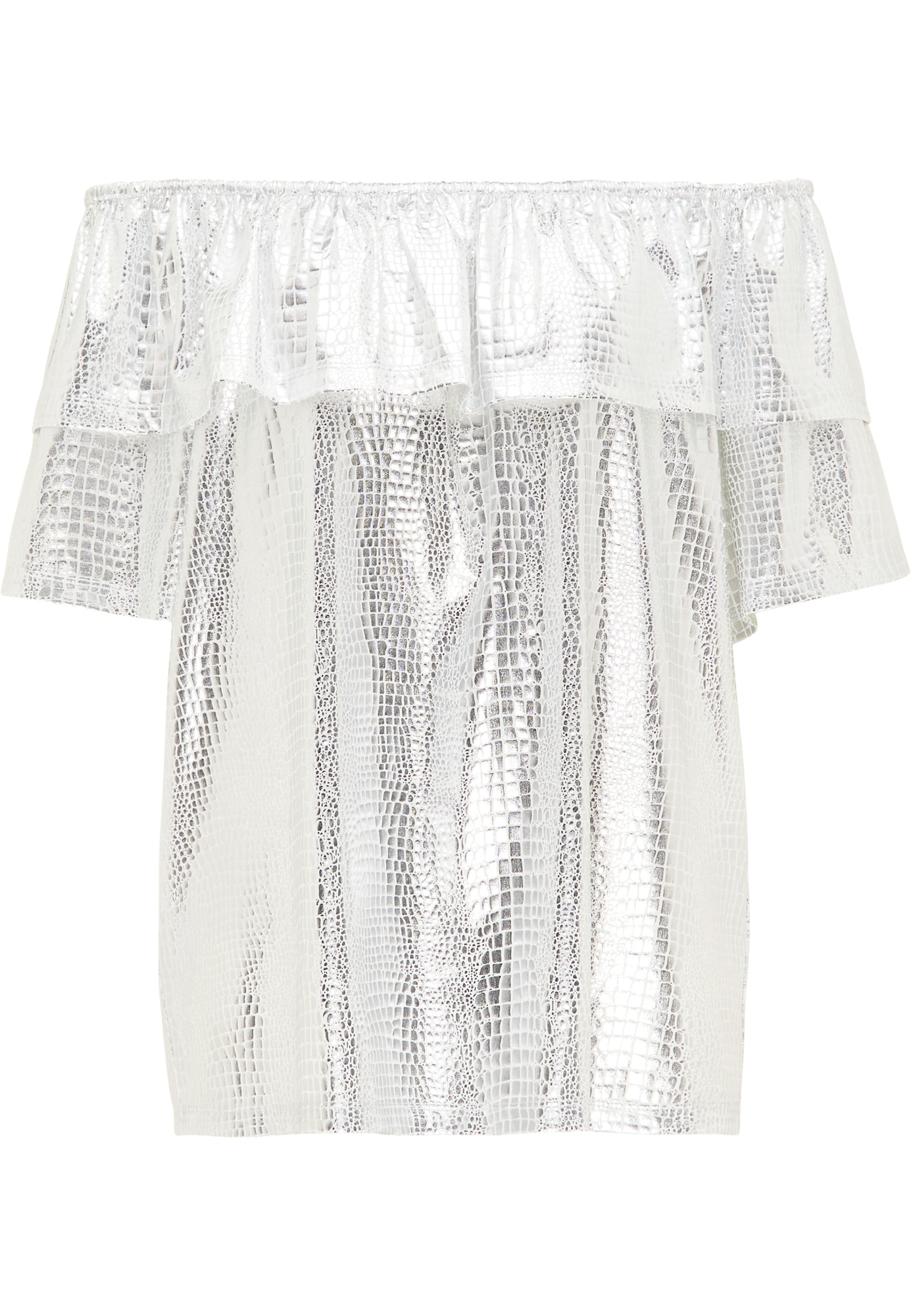 myMo at night Marškinėliai balta / sidabrinė