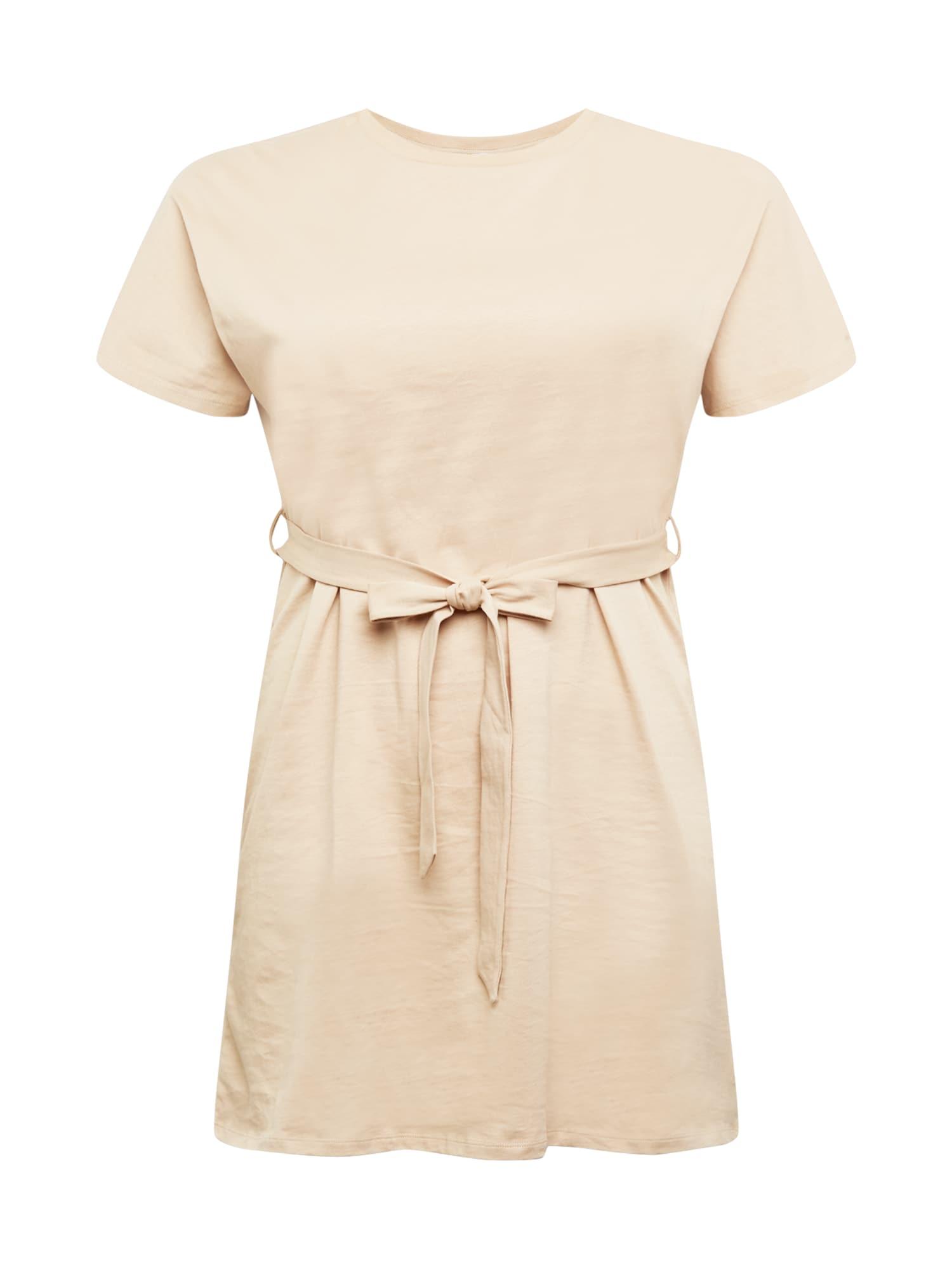 NU-IN Plus Suknelė smėlio spalva