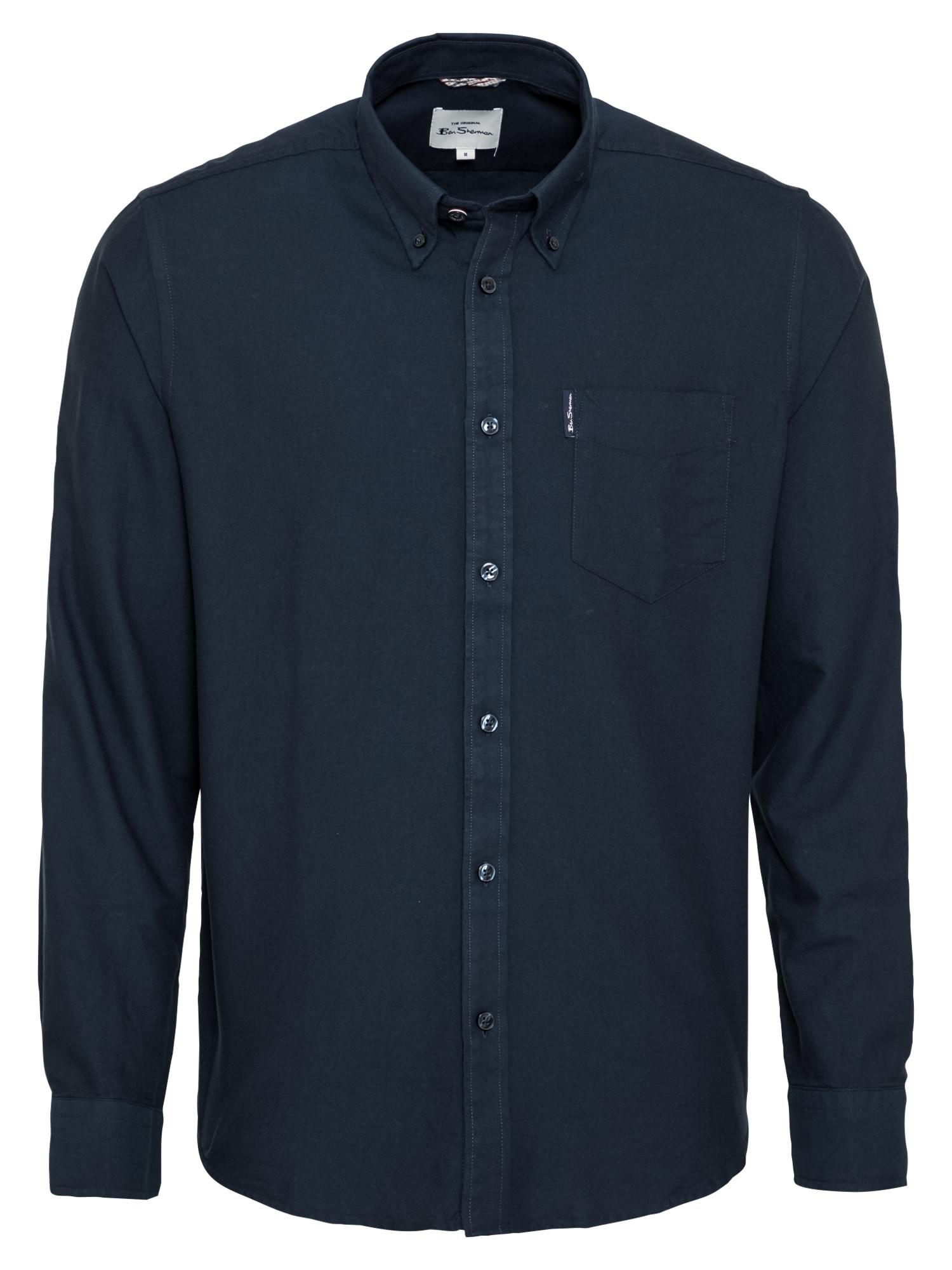 Ben Sherman Dalykinio stiliaus marškiniai tamsiai mėlyna