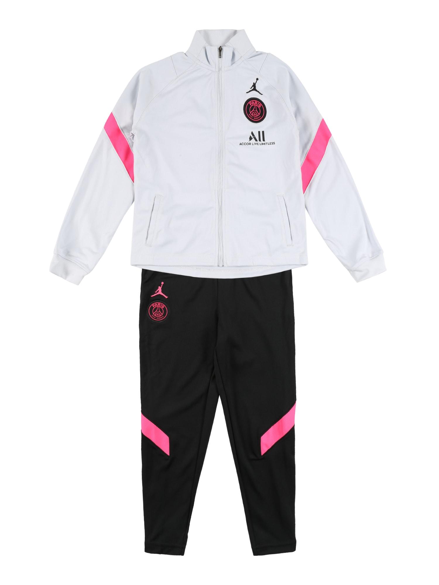 NIKE Sportinis kostiumas 'Paris Saint-Germain' juoda / balta / rožinė