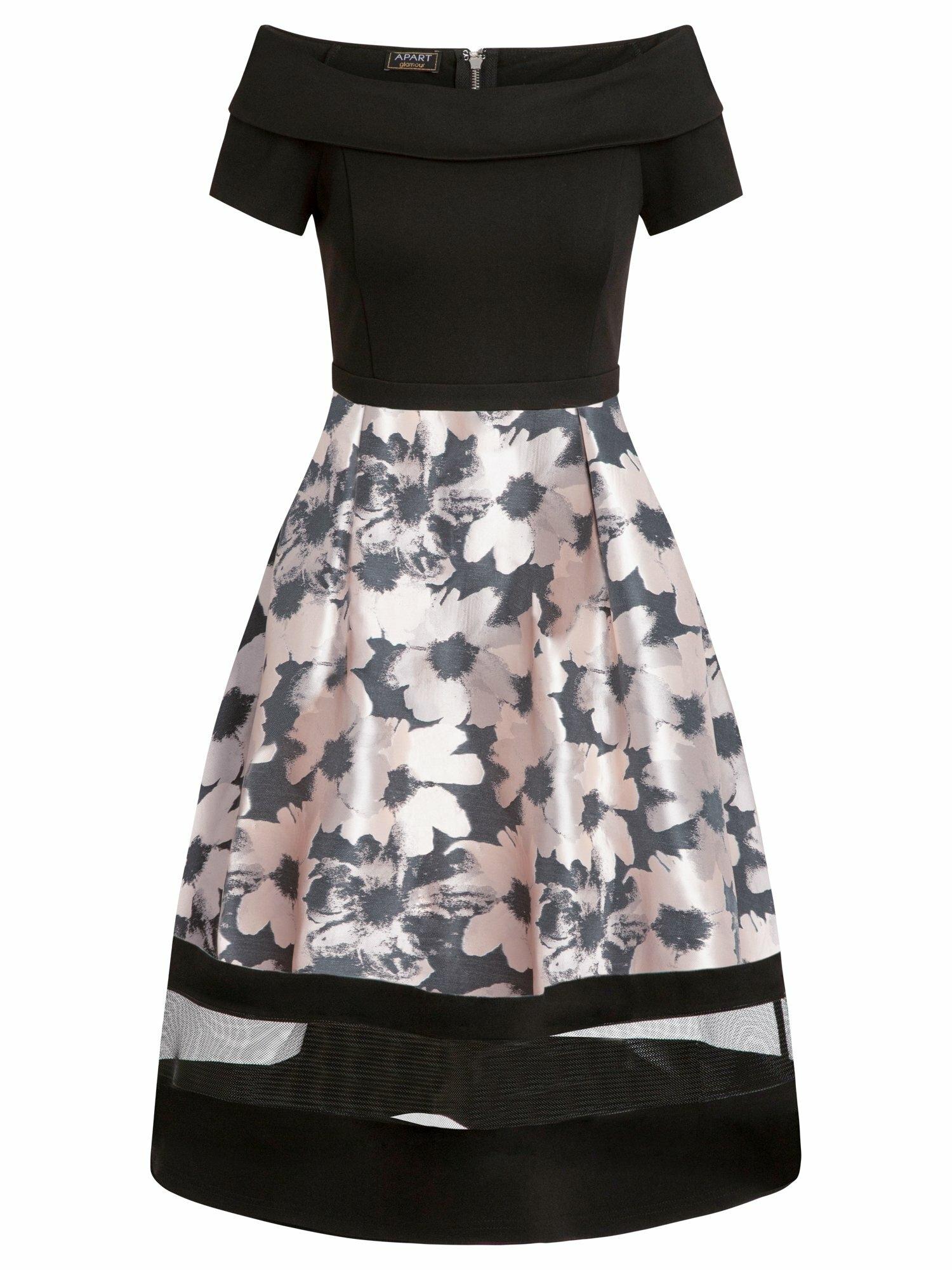 APART Suknelė juoda / šviesiai rožinė