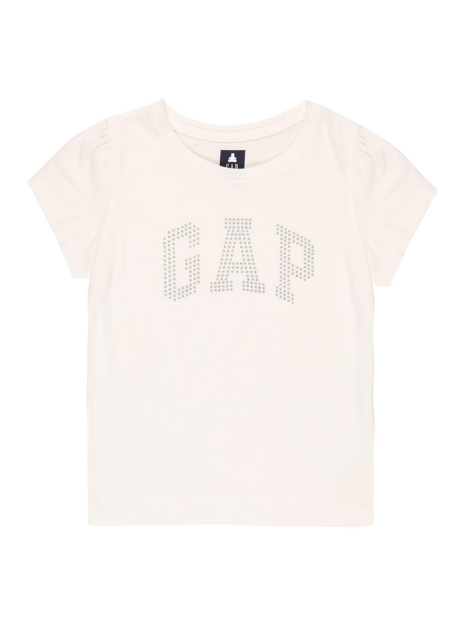 GAP Marškinėliai balta / sidabrinė