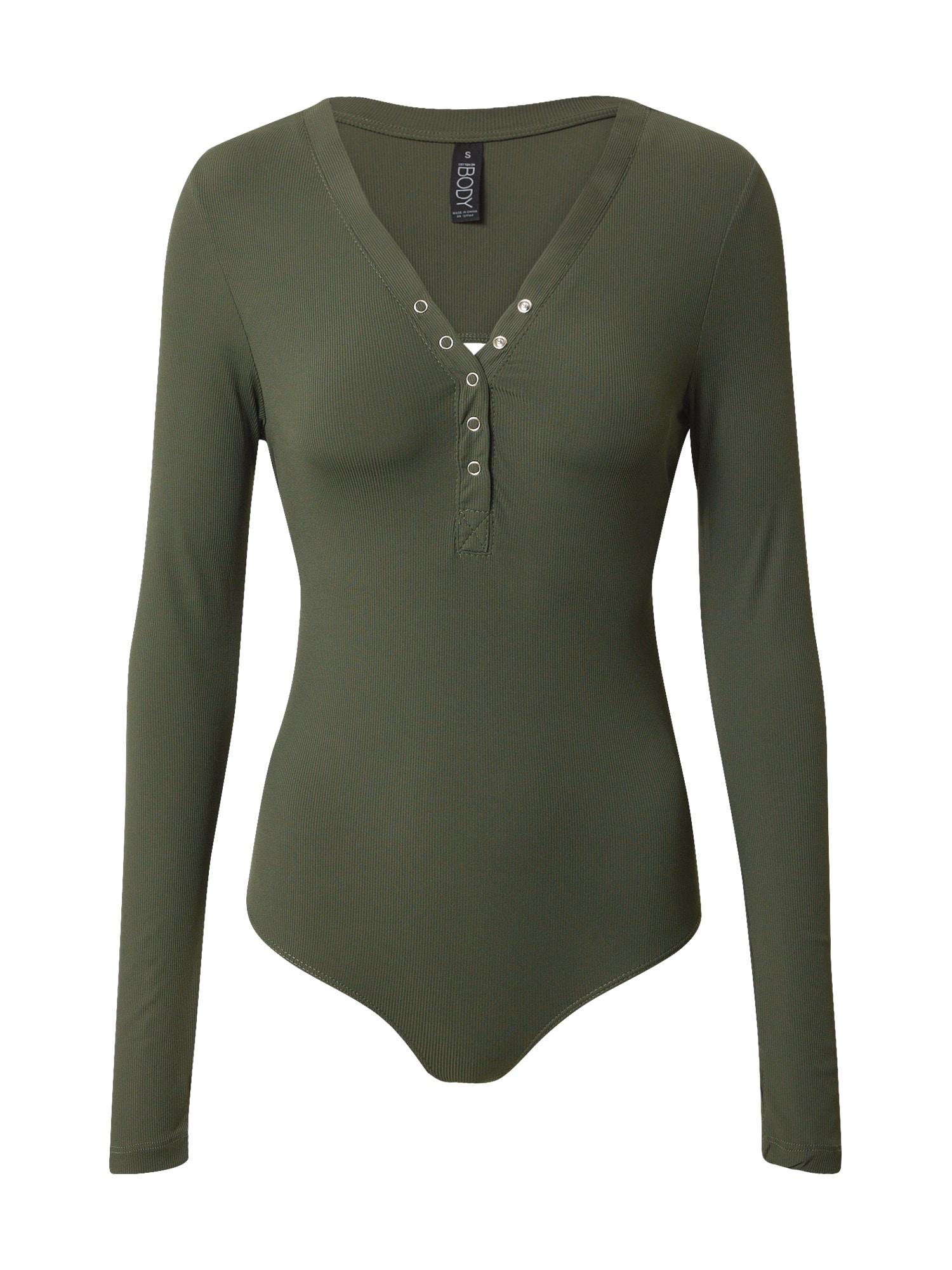Cotton On Marškinėliai-glaustinukė rusvai žalia