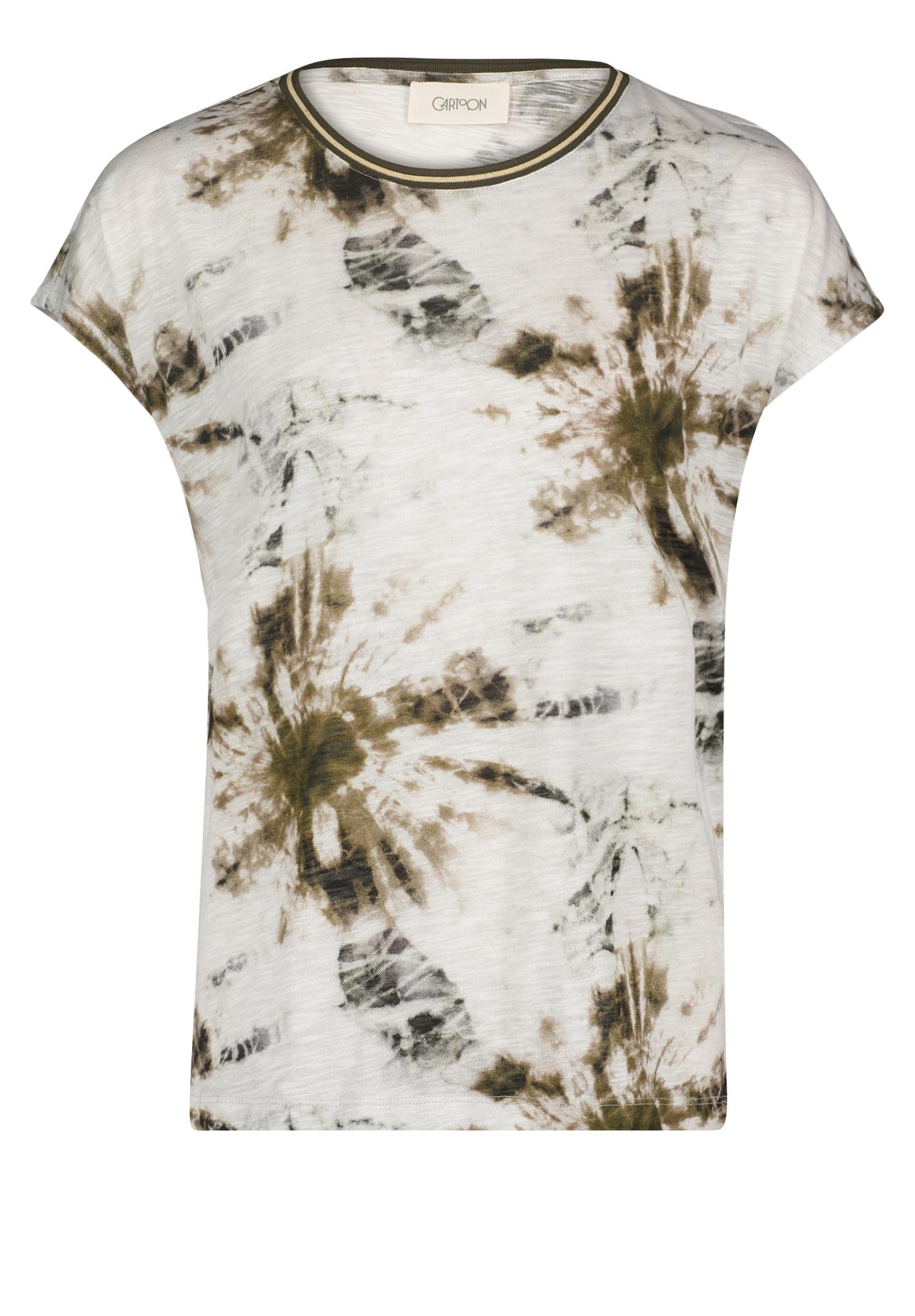 Cartoon Marškinėliai balta / rusvai žalia / įdegio spalva