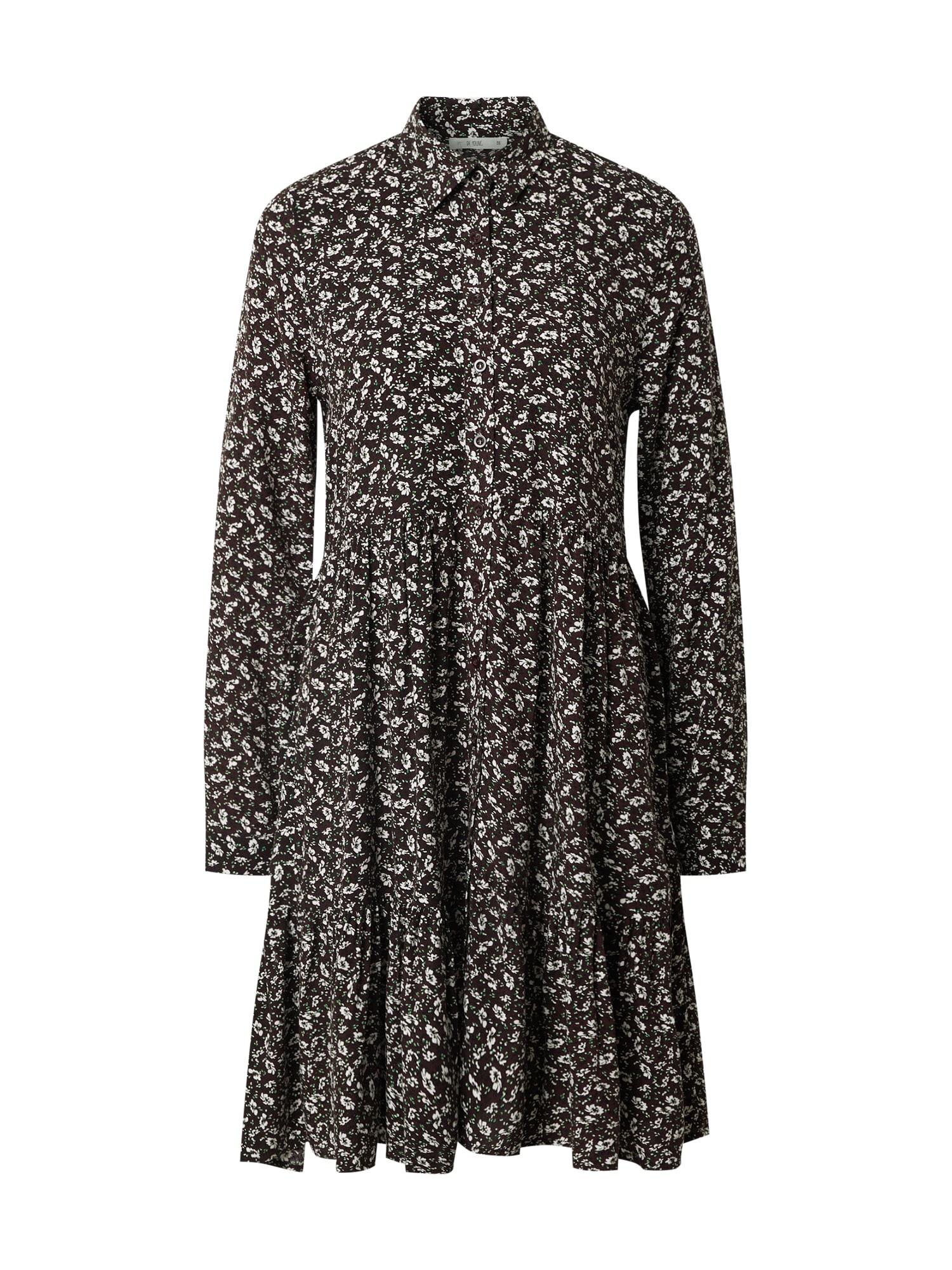 DeFacto Palaidinės tipo suknelė ruda / balta / žalia