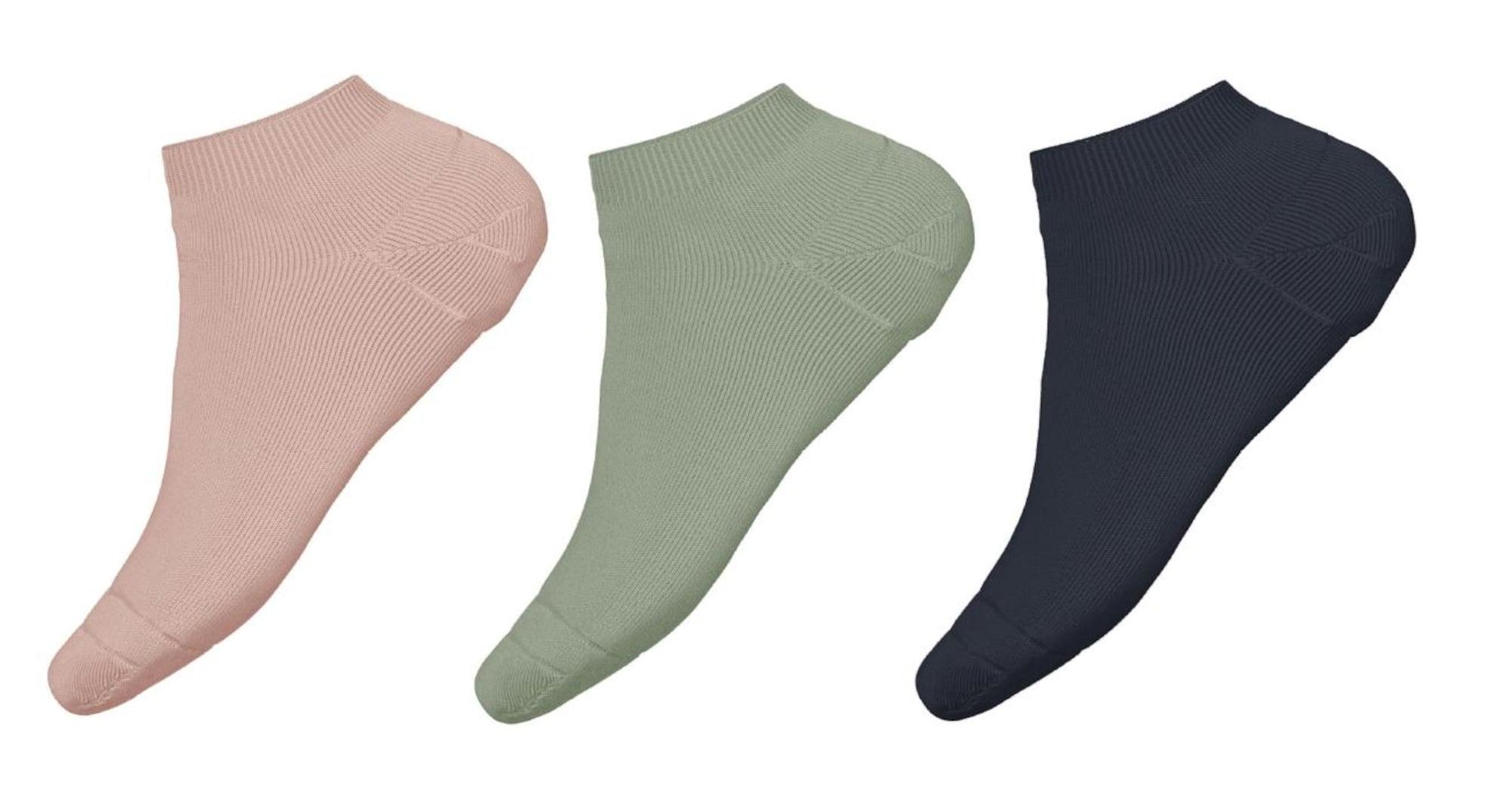 NAME IT Kojinės 'Vira' pastelinė žalia / rožių spalva / tamsiai mėlyna