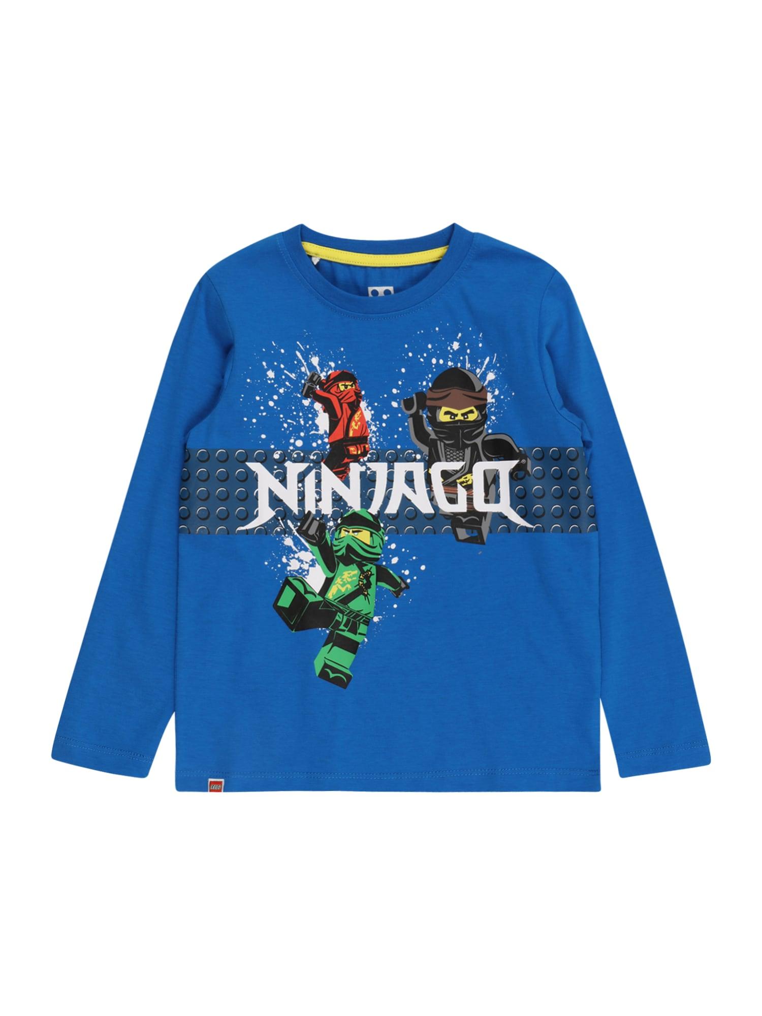 LEGO WEAR Marškinėliai mėlyna / balta / raudona / juoda / žalia