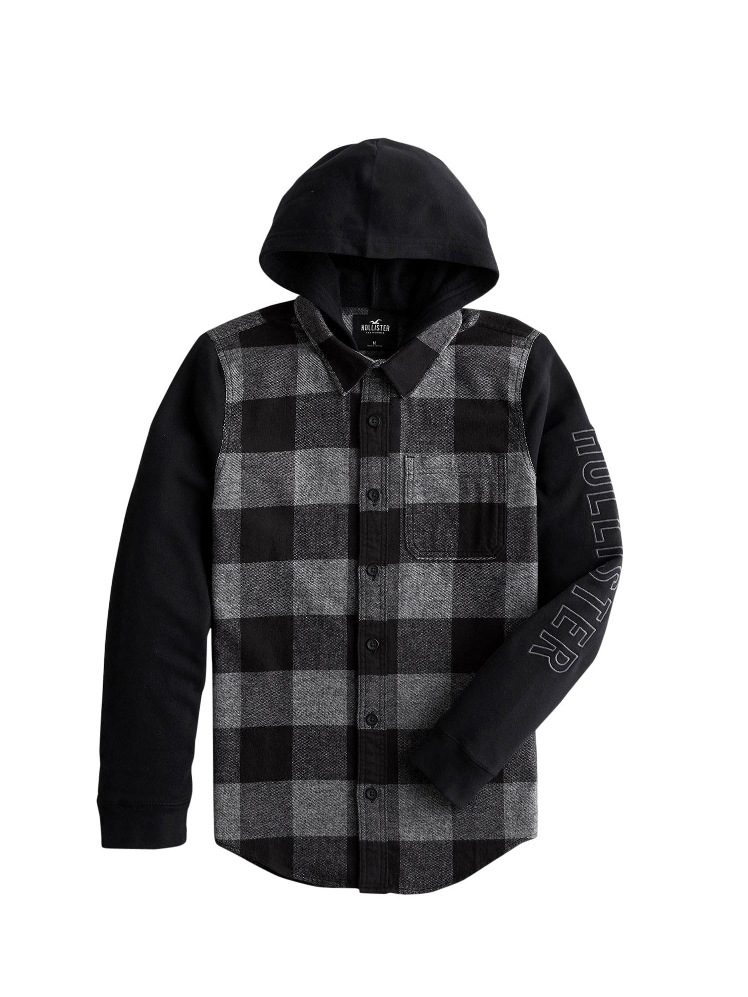 HOLLISTER Džemperis juoda / šviesiai pilka / tamsiai pilka
