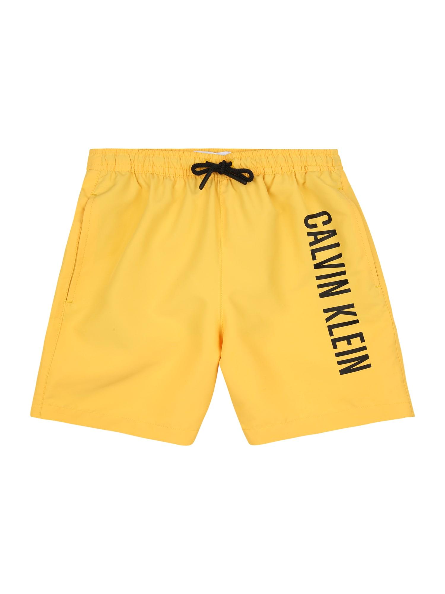 Calvin Klein Swimwear Maudymosi trumpikės geltona / juoda