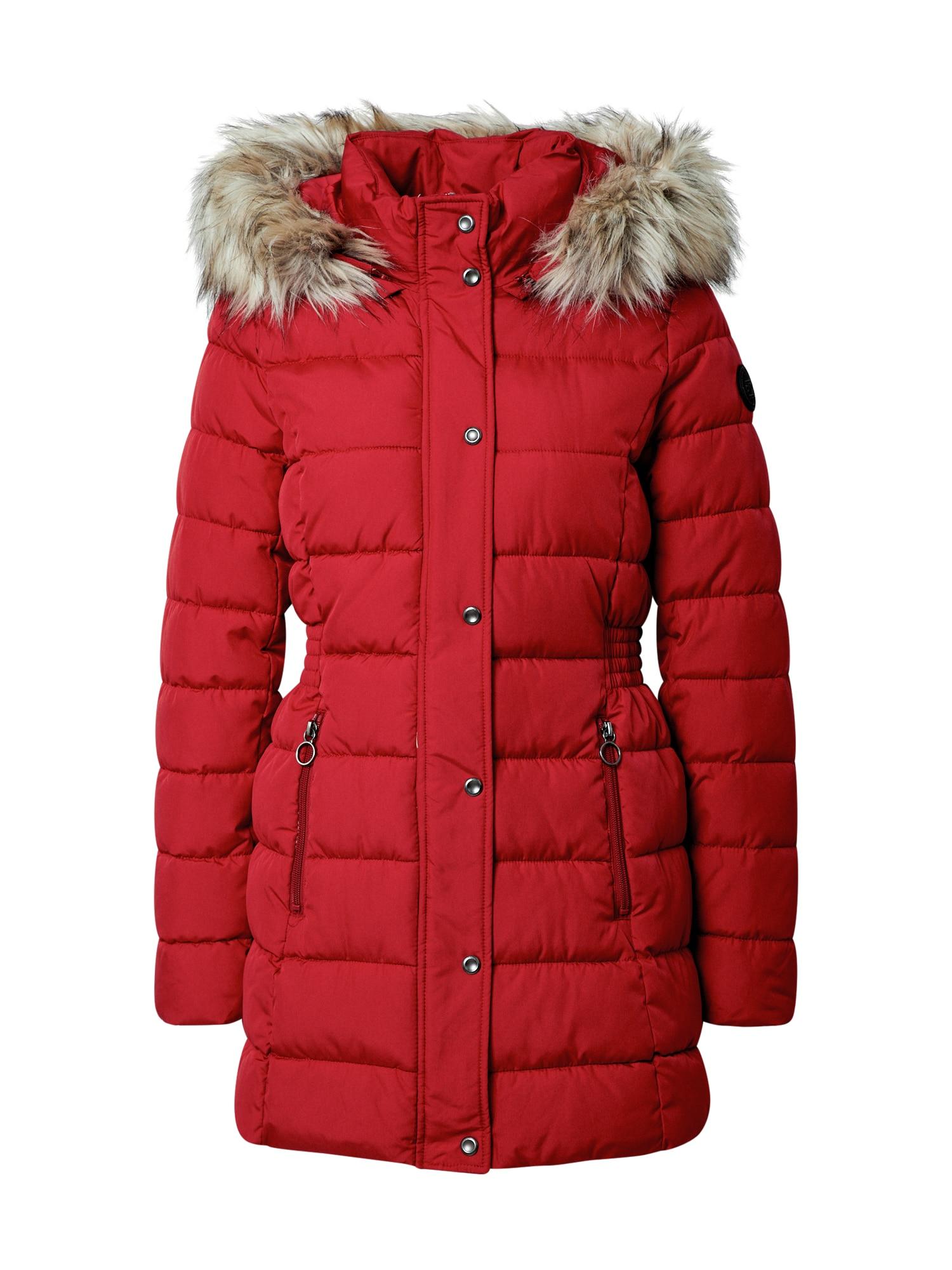 ONLY Zimní kabát 'Luna'  červená / béžová