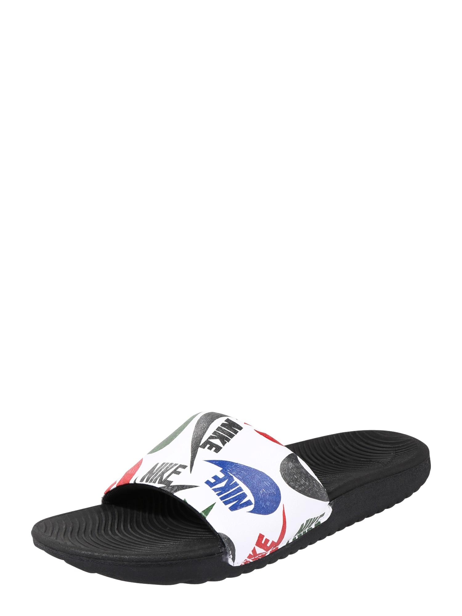 NIKE Plážová/koupací obuv 'Kawa SE JDI'  bílá / černá / modrá / červená