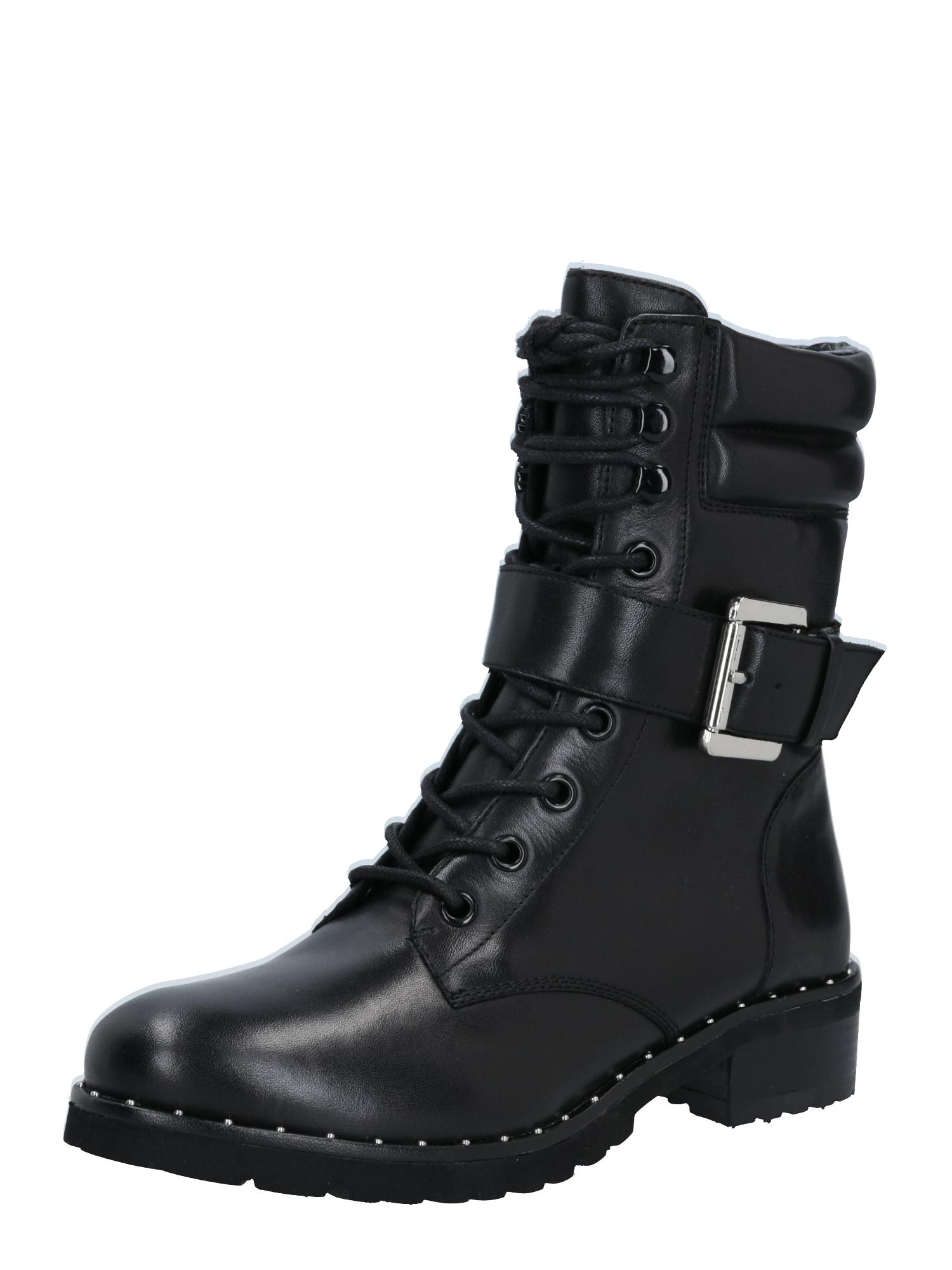 Steven New York Šněrovací boty 'Alyssa'  černá