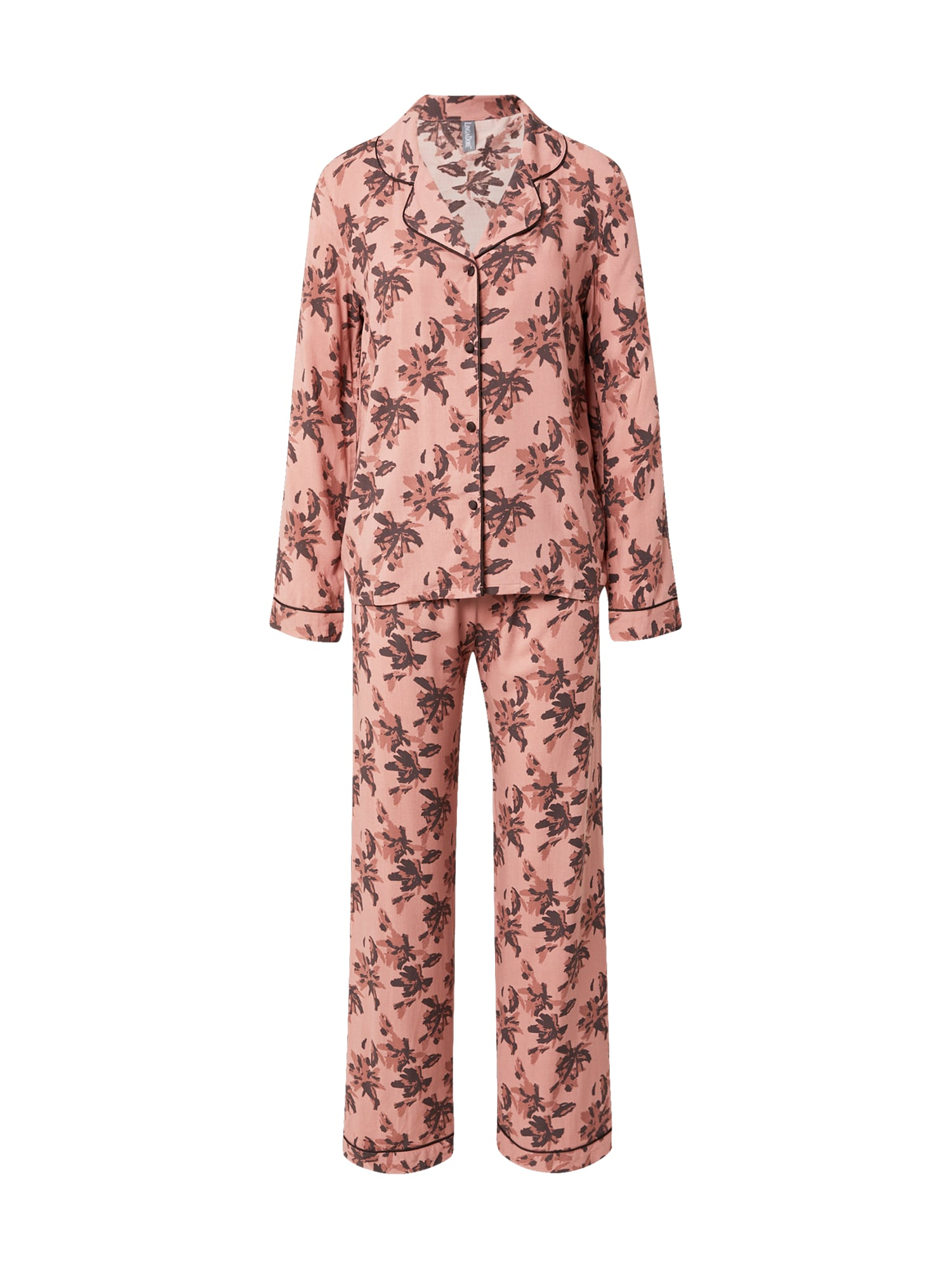 LingaDore Pižama ryškiai rožinė spalva / ruda