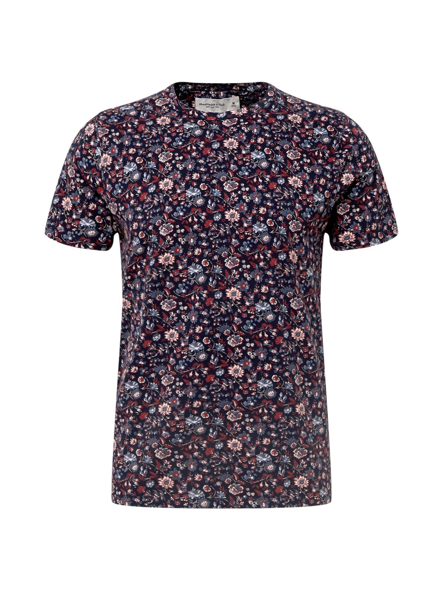 Abercrombie & Fitch Marškinėliai tamsiai mėlyna / mišrios spalvos