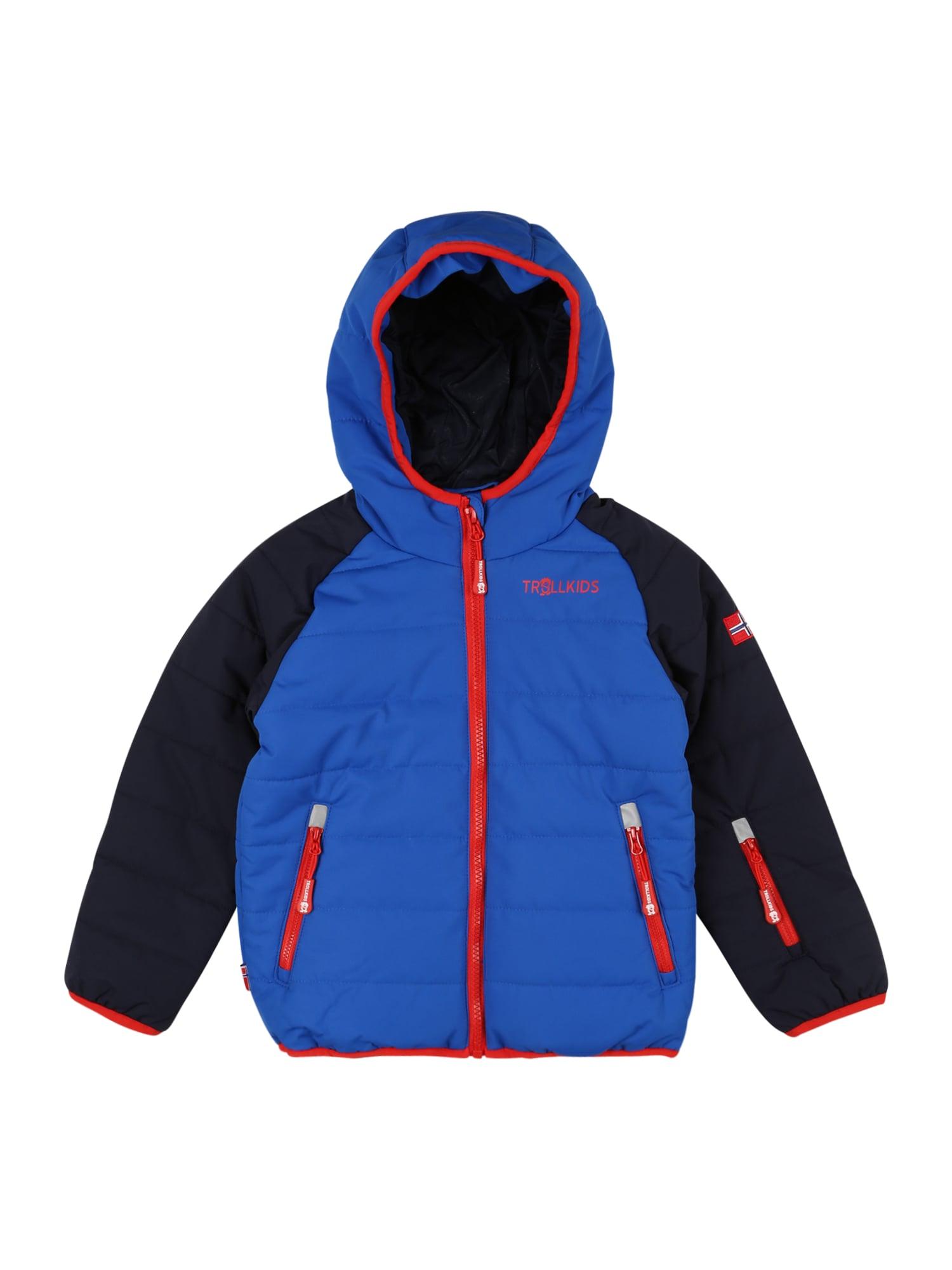 TROLLKIDS Přechodná bunda  červená / námořnická modř / tmavě modrá