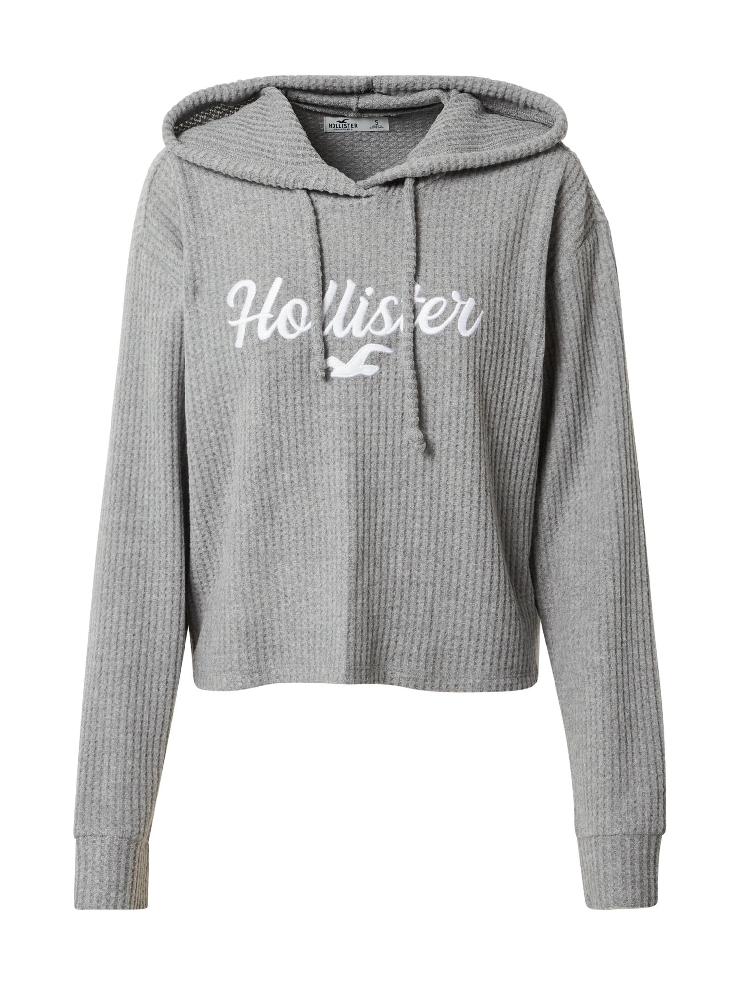 HOLLISTER Megztinis pilka / balta