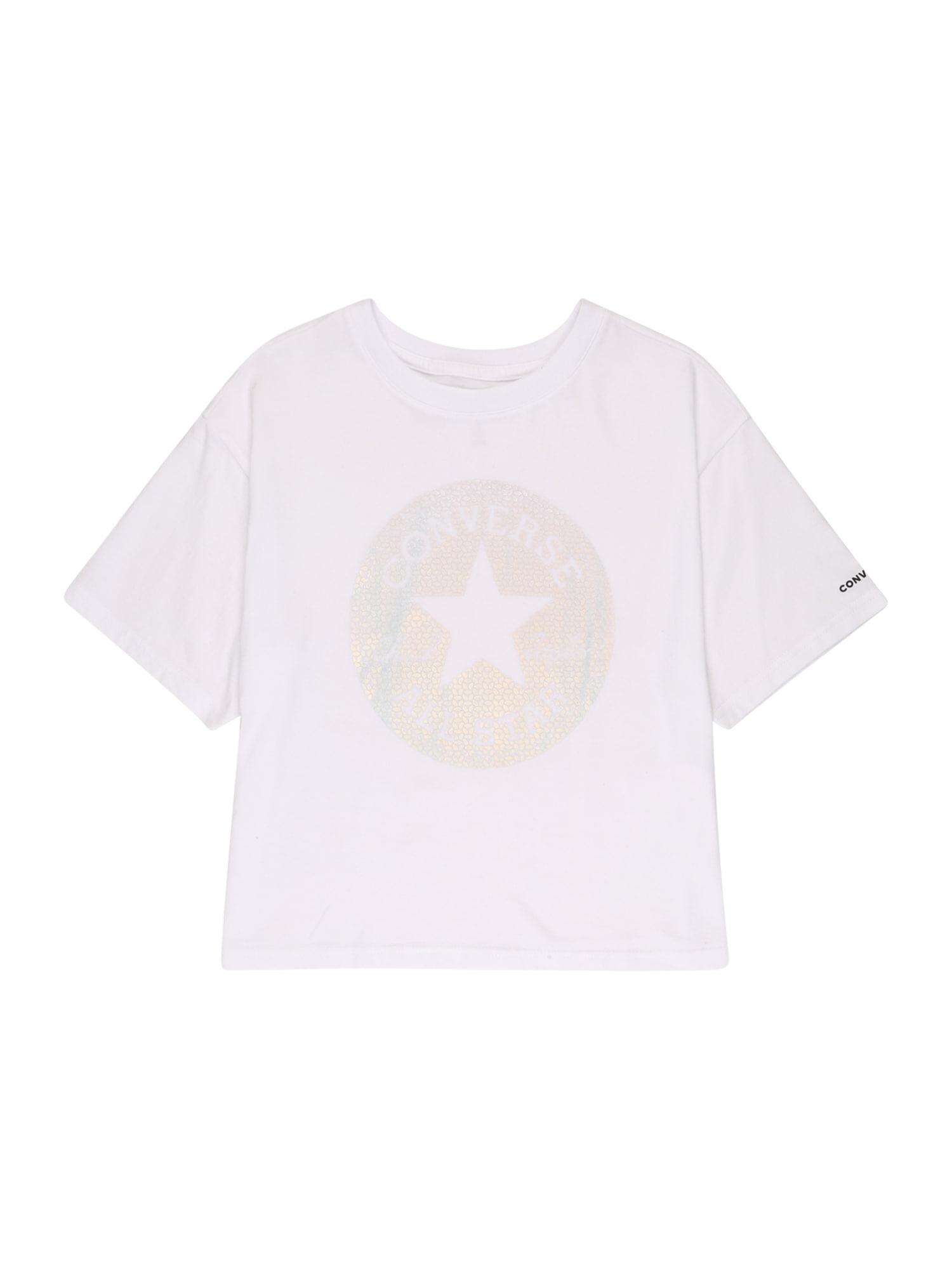 CONVERSE Marškinėliai balta / mišrios spalvos