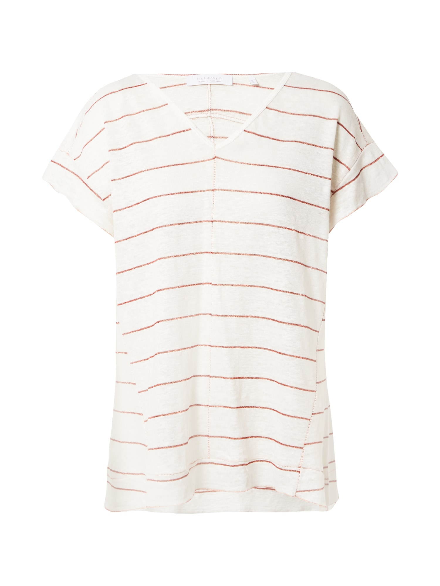 Rich & Royal Marškinėliai balta / rūdžių raudona