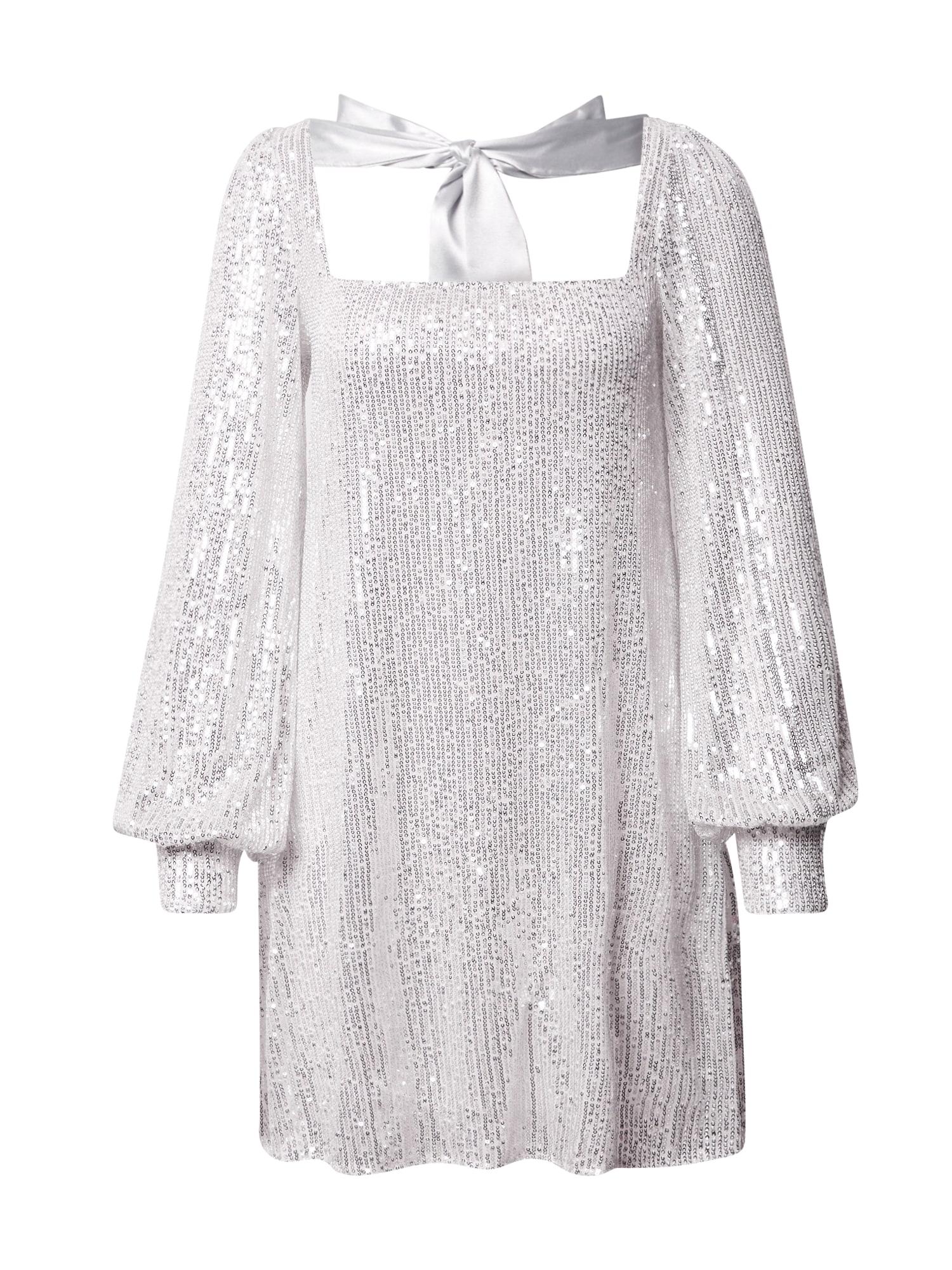 Missguided Šaty  stříbrná