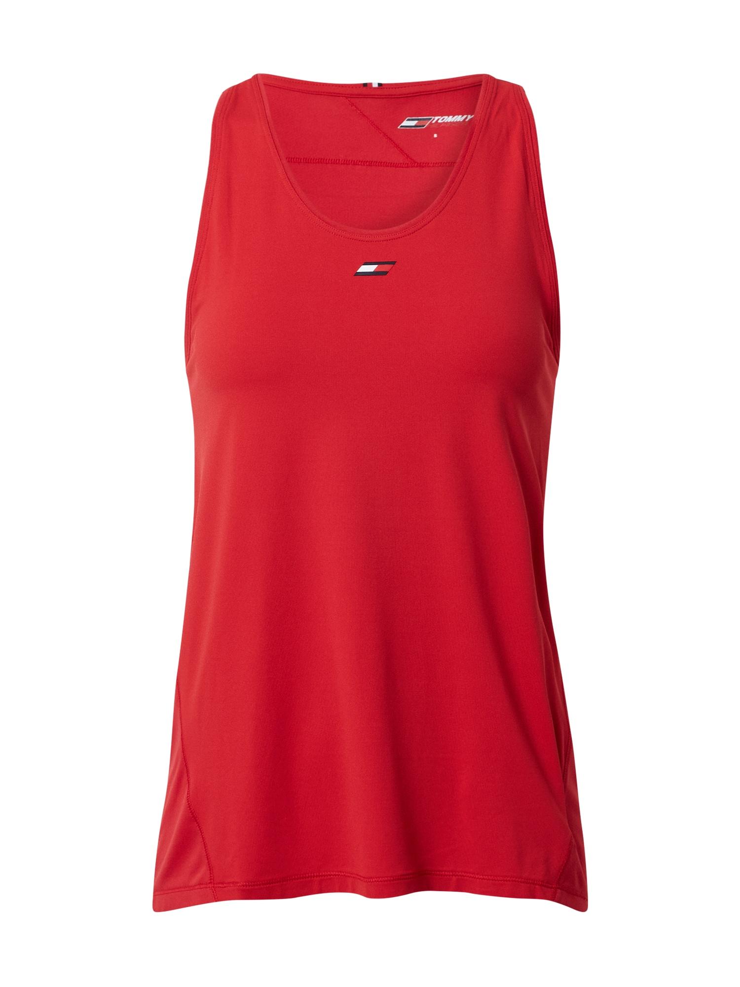 Tommy Sport Sportiniai marškinėliai be rankovių raudona