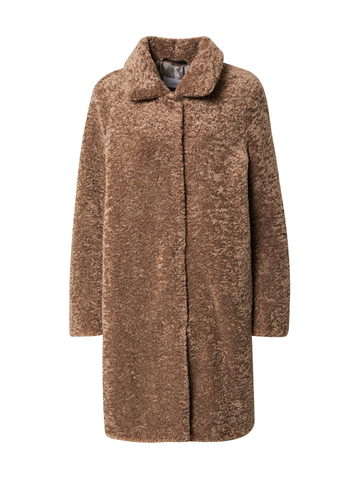CINQUE Demisezoninis paltas 'Fleecy' ruda