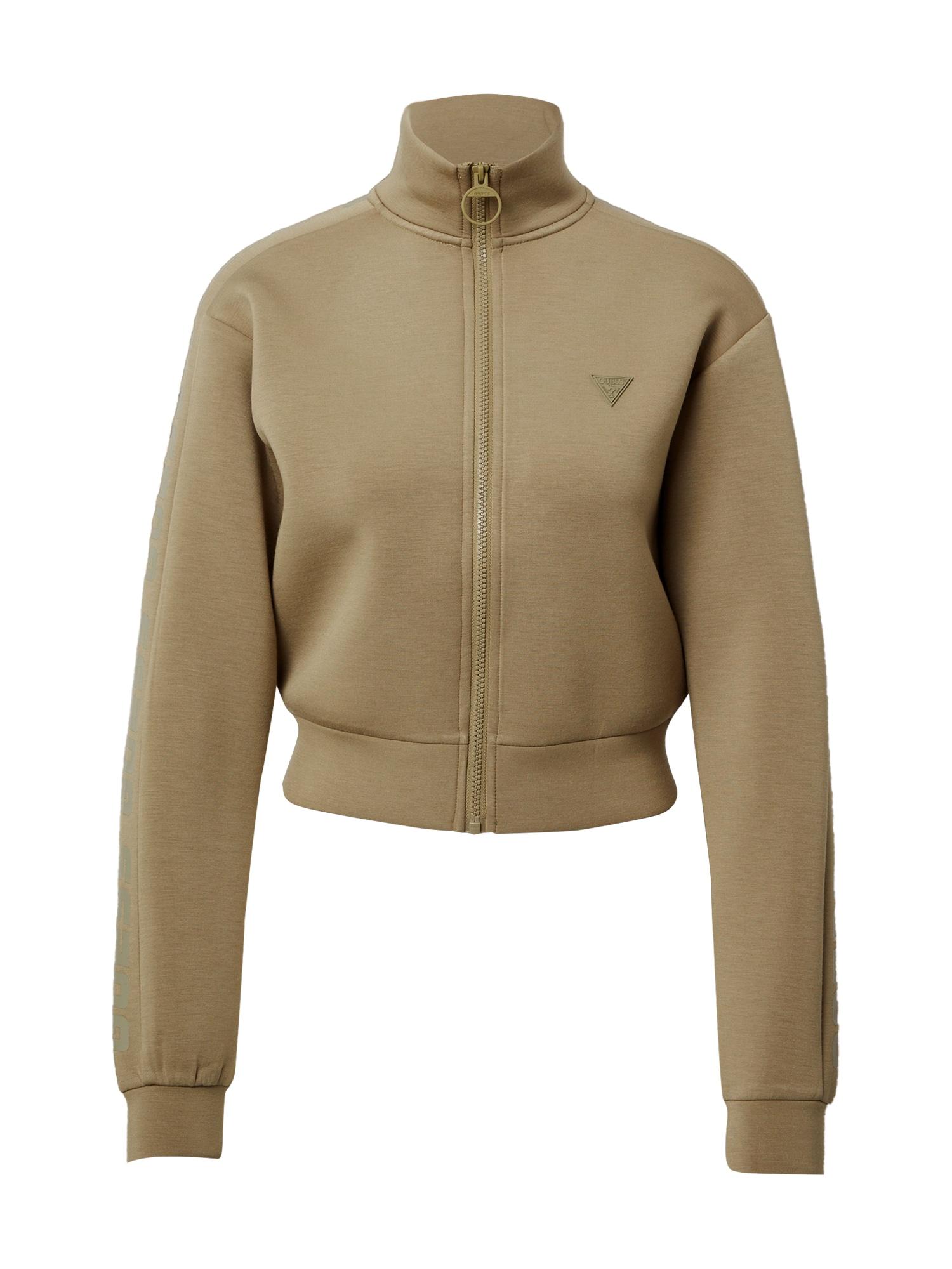 GUESS Sportinis džemperis rusvai žalia