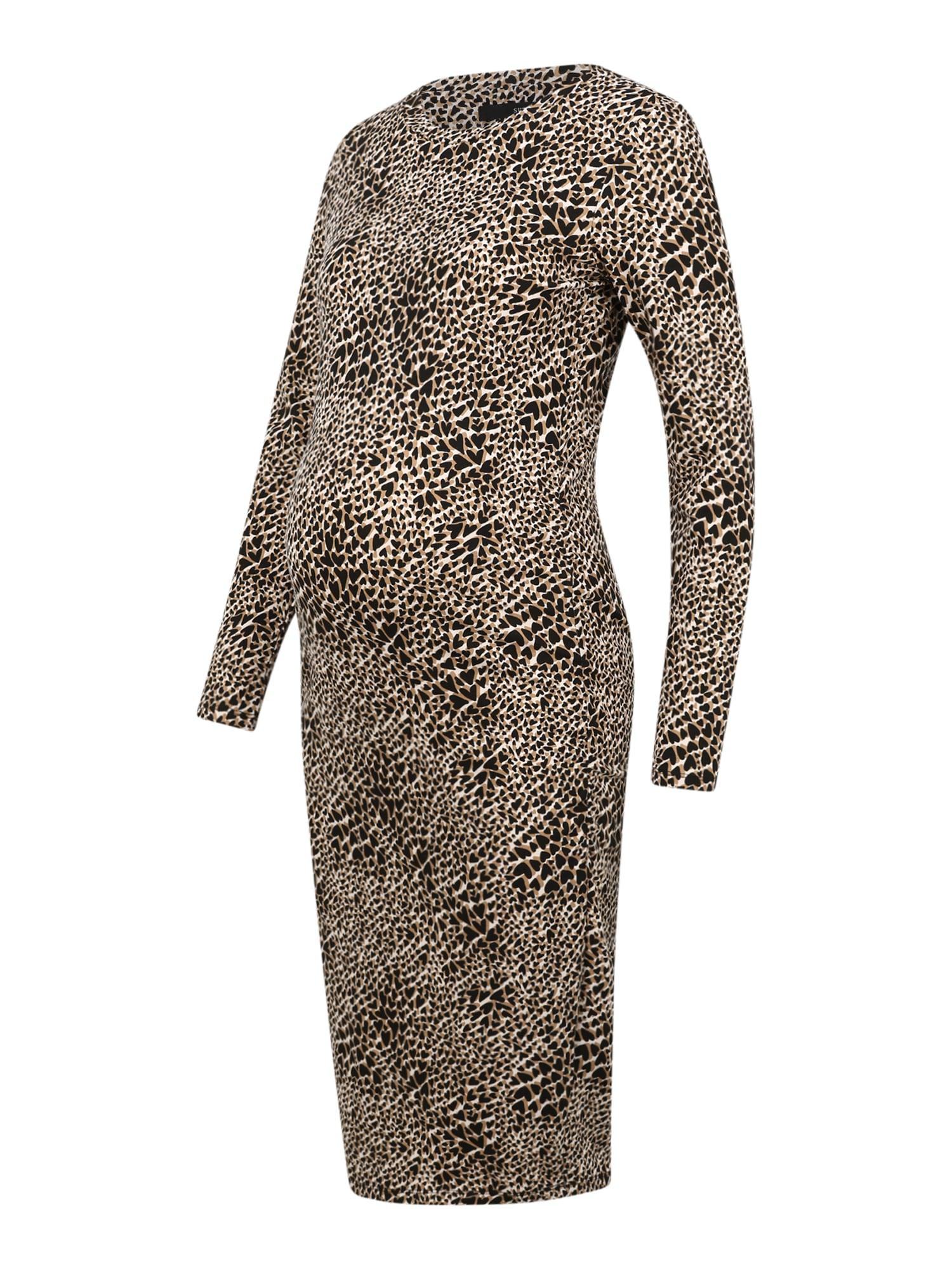 Supermom Suknelė ruda / juoda